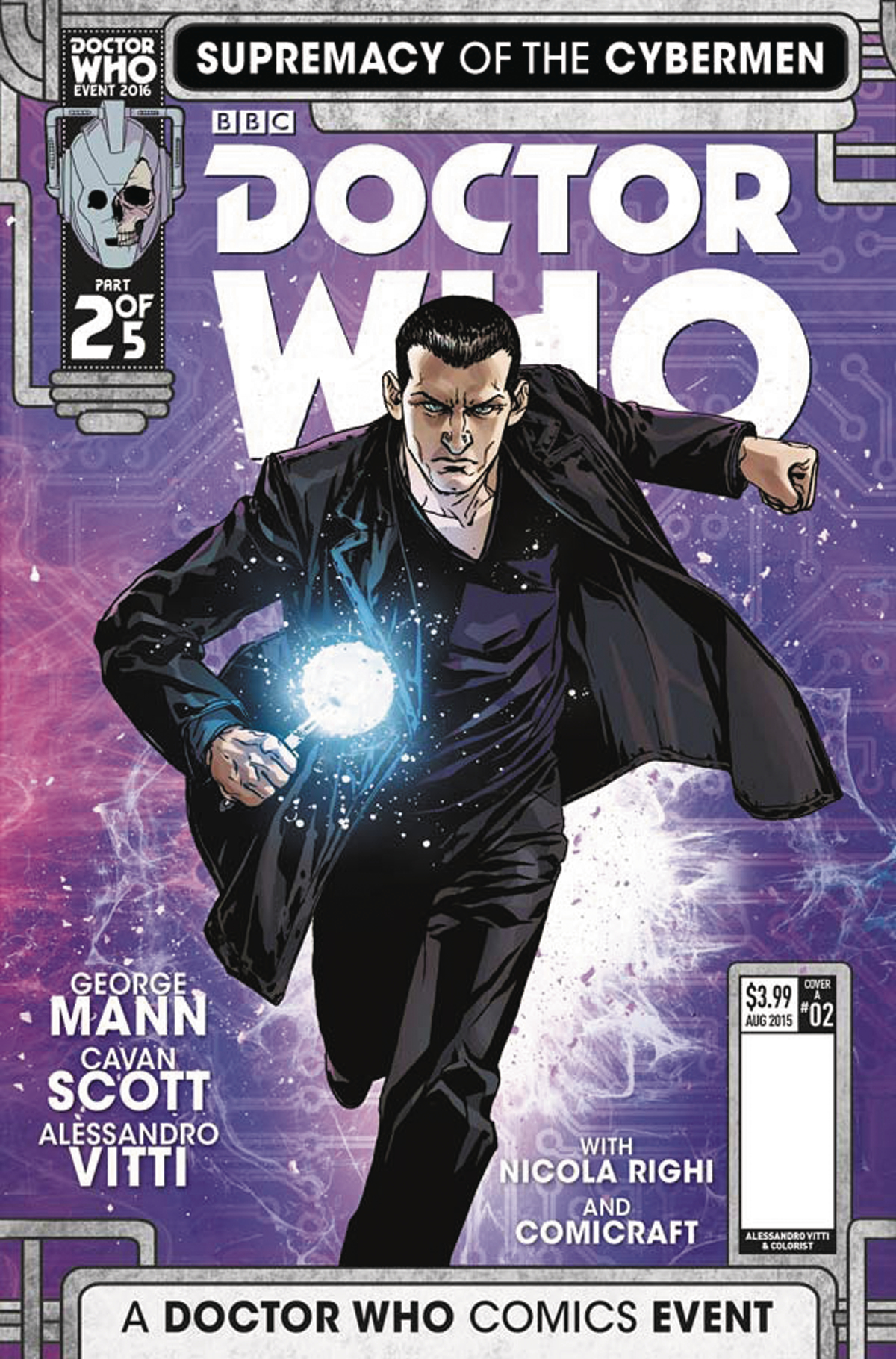 DOCTOR WHO SUPREMACY OF THE CYBERMEN #2 (OF 5) CVR A VITTI