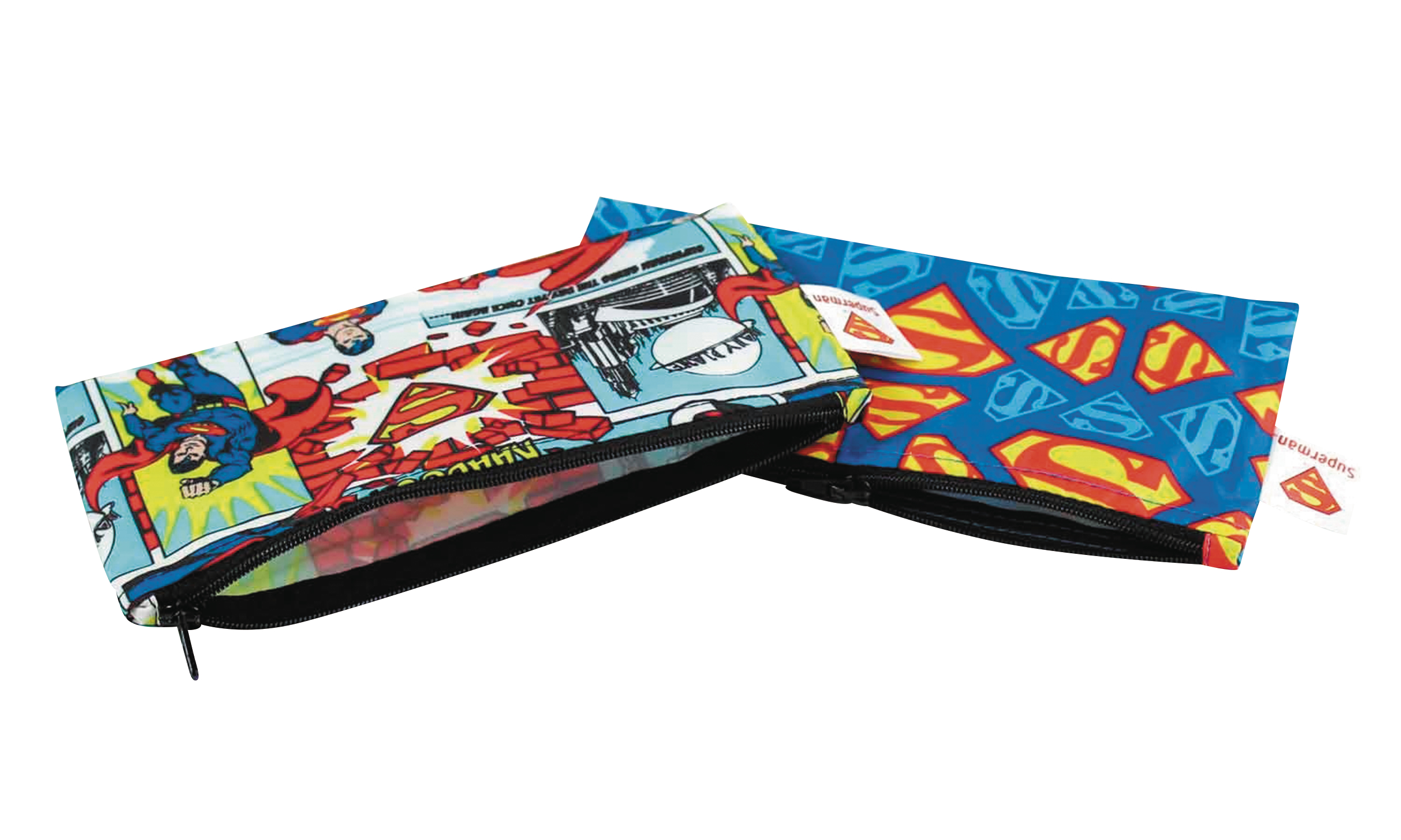 DC SUPERMAN 2PK SMALL REUSABLE SNACK BAG