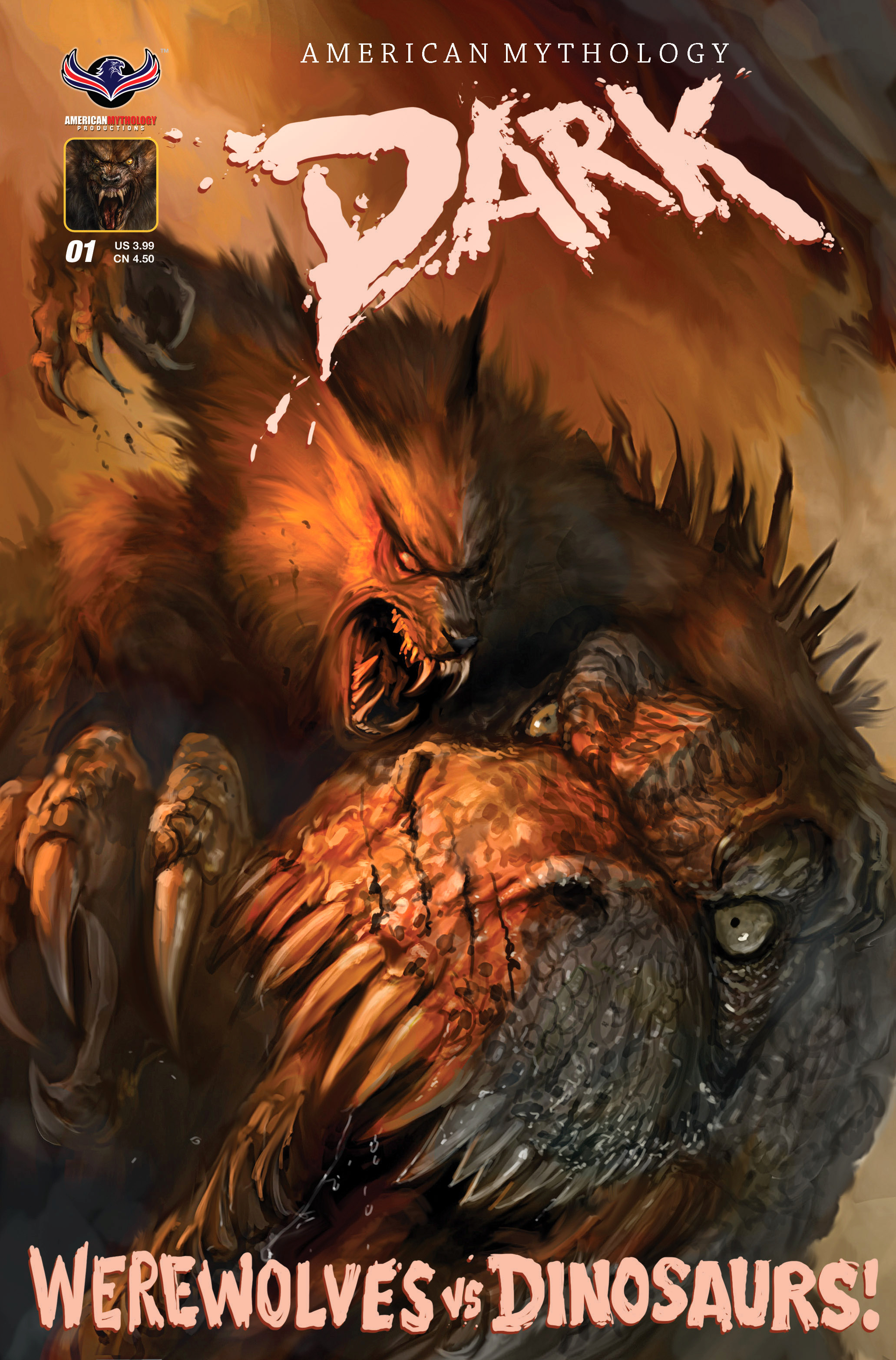 AM DARK WEREWOLVES VS DINOSAURS #1 FEROCIOUS CVR (O/A)