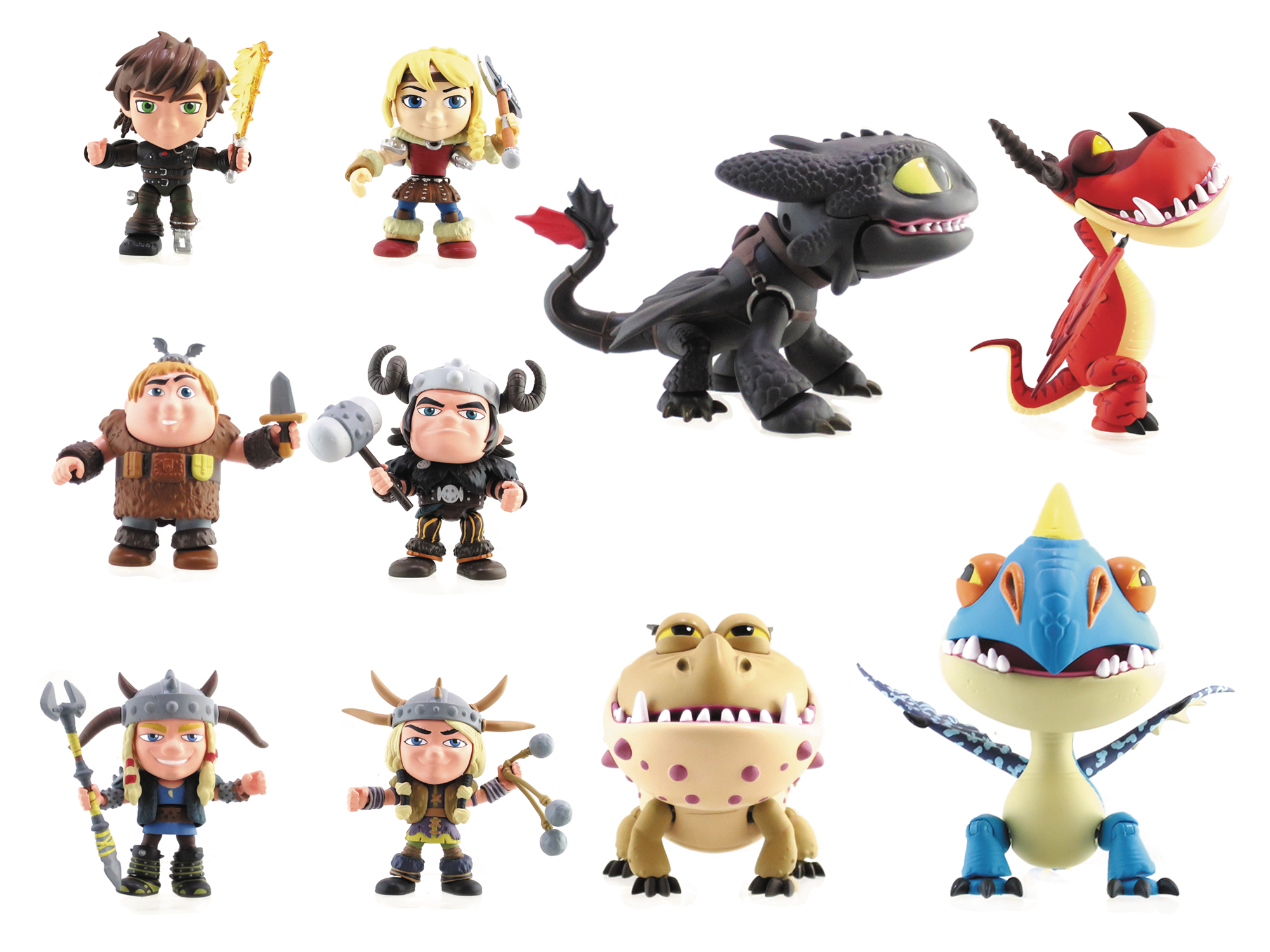 TLS X HTTYD HUMAN HEROES ACTION VINYL MINI FIG 12PC DS
