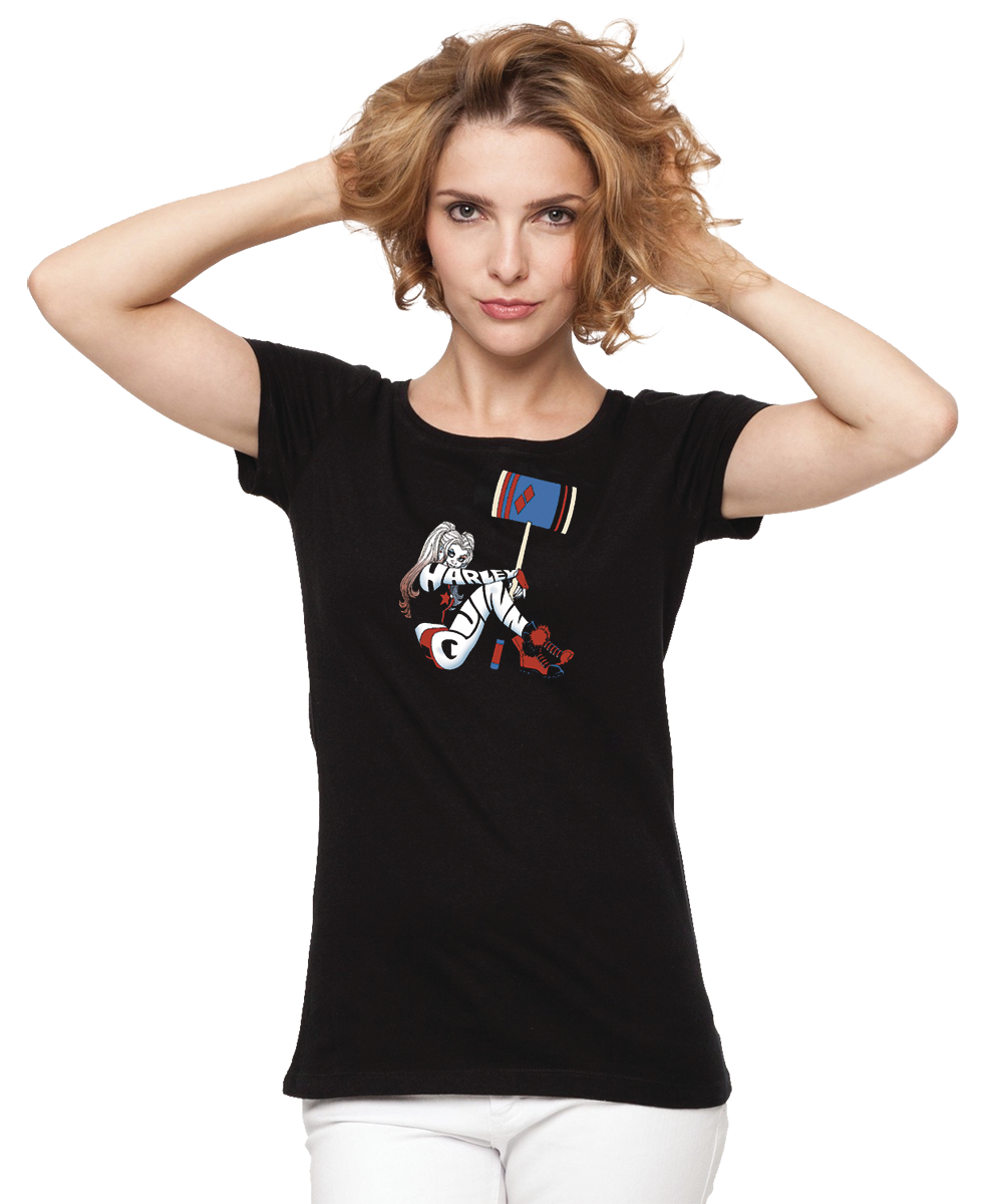 HARLEY QUINN HIT BY CONNER WOMENS T/S XL