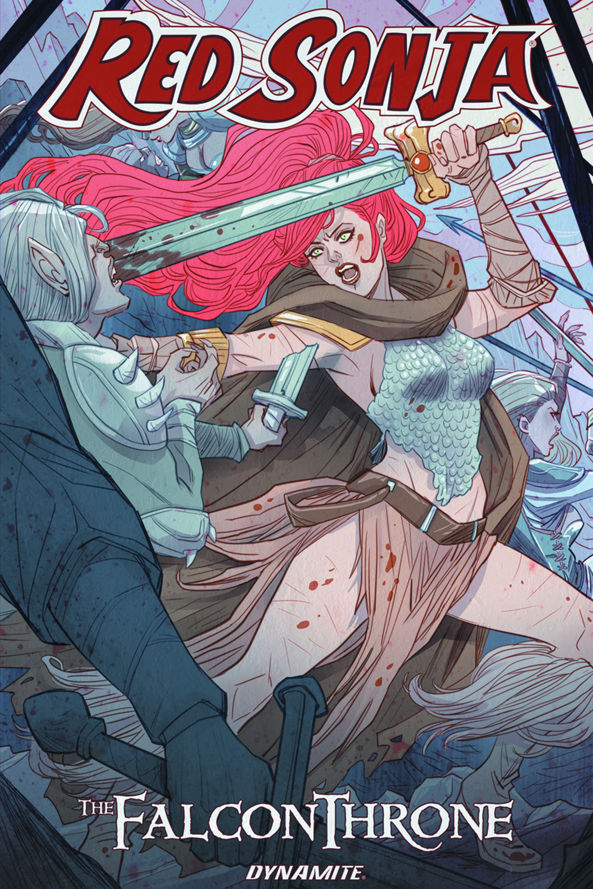 RED SONJA FALCON THRONE TP (AUG161564)