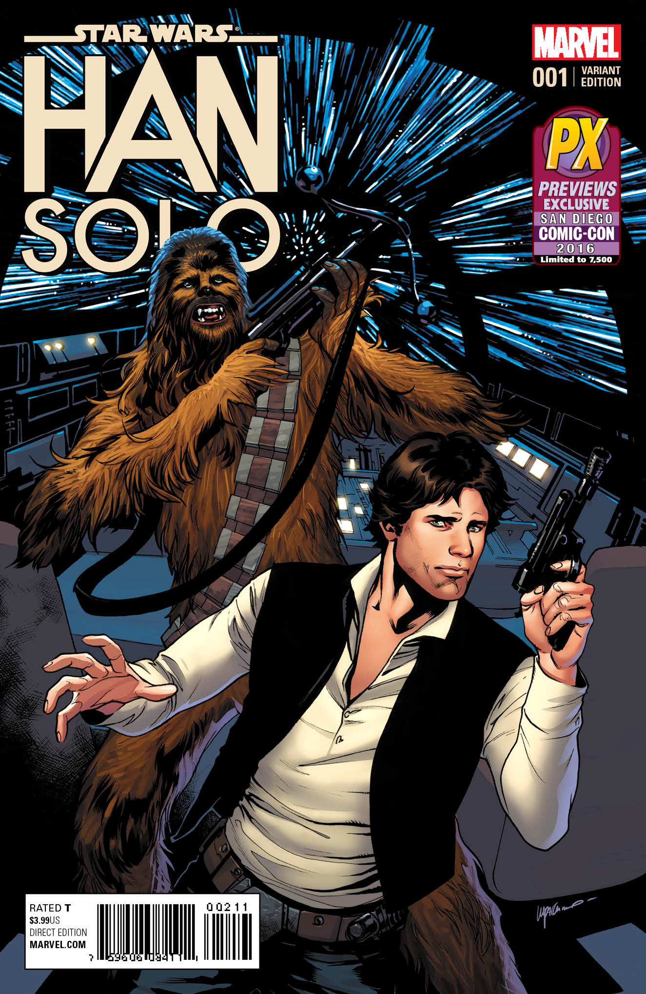 SDCC 2016 STAR WARS HAN SOLO #1 (OF 5) LUPACCHINO VAR