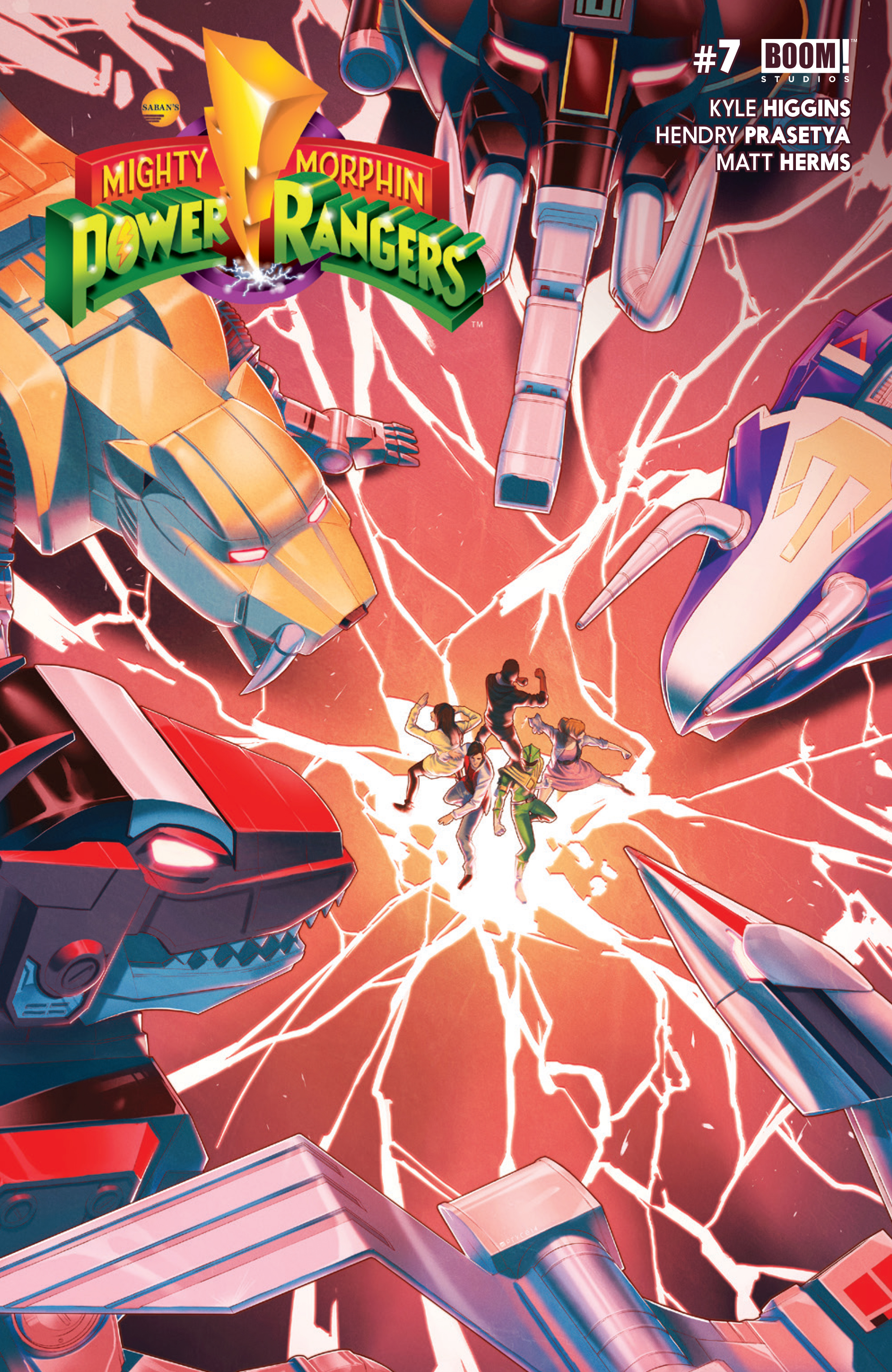 MIGHTY MORPHIN POWER RANGERS #7 MAIN CVR