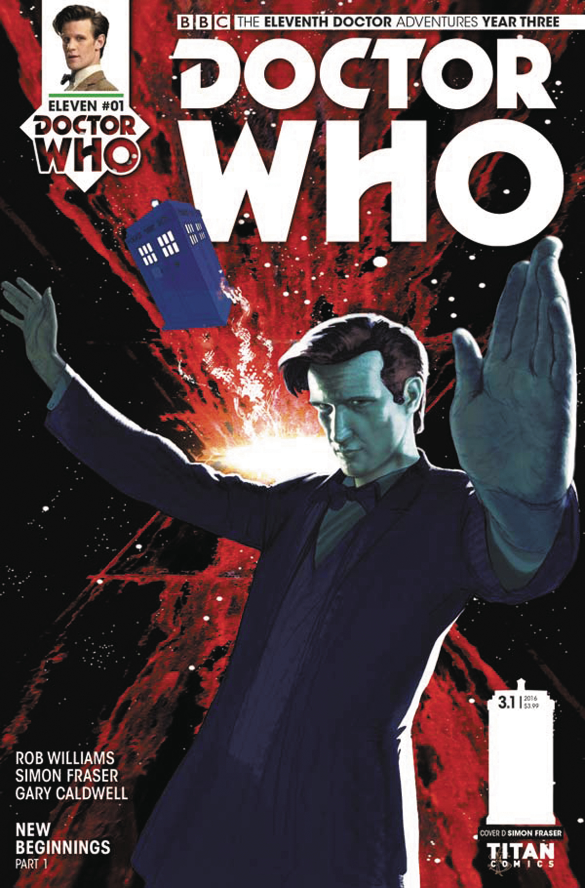 DOCTOR WHO 11TH YEAR THREE #1 CVR D FRASER
