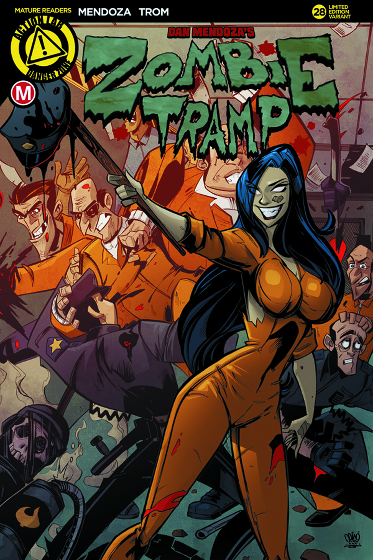 ZOMBIE TRAMP ONGOING #28 CVR C PRISON RIOT (MR)