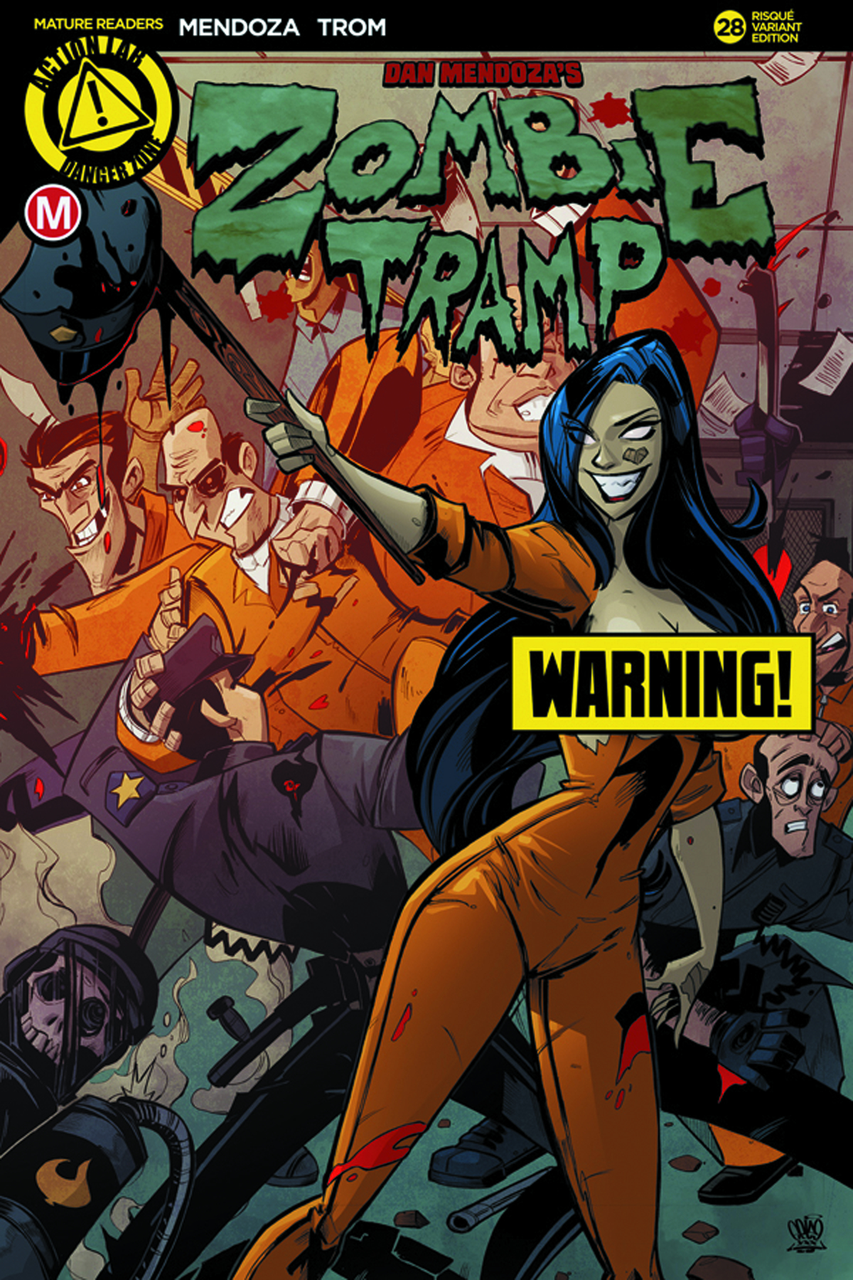 ZOMBIE TRAMP ONGOING #28 CVR D PRISON RIOT RISQUE (MR)