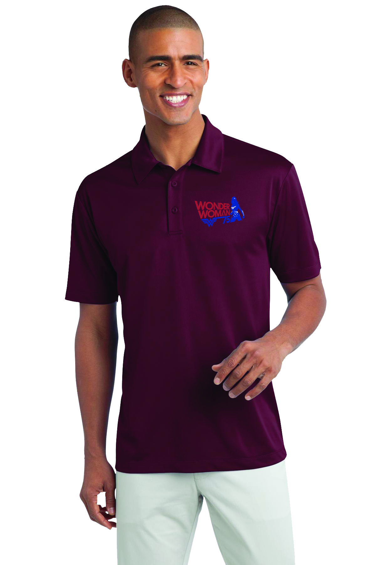 WONDER WOMAN 75TH ANNIVERSARY POLO XL