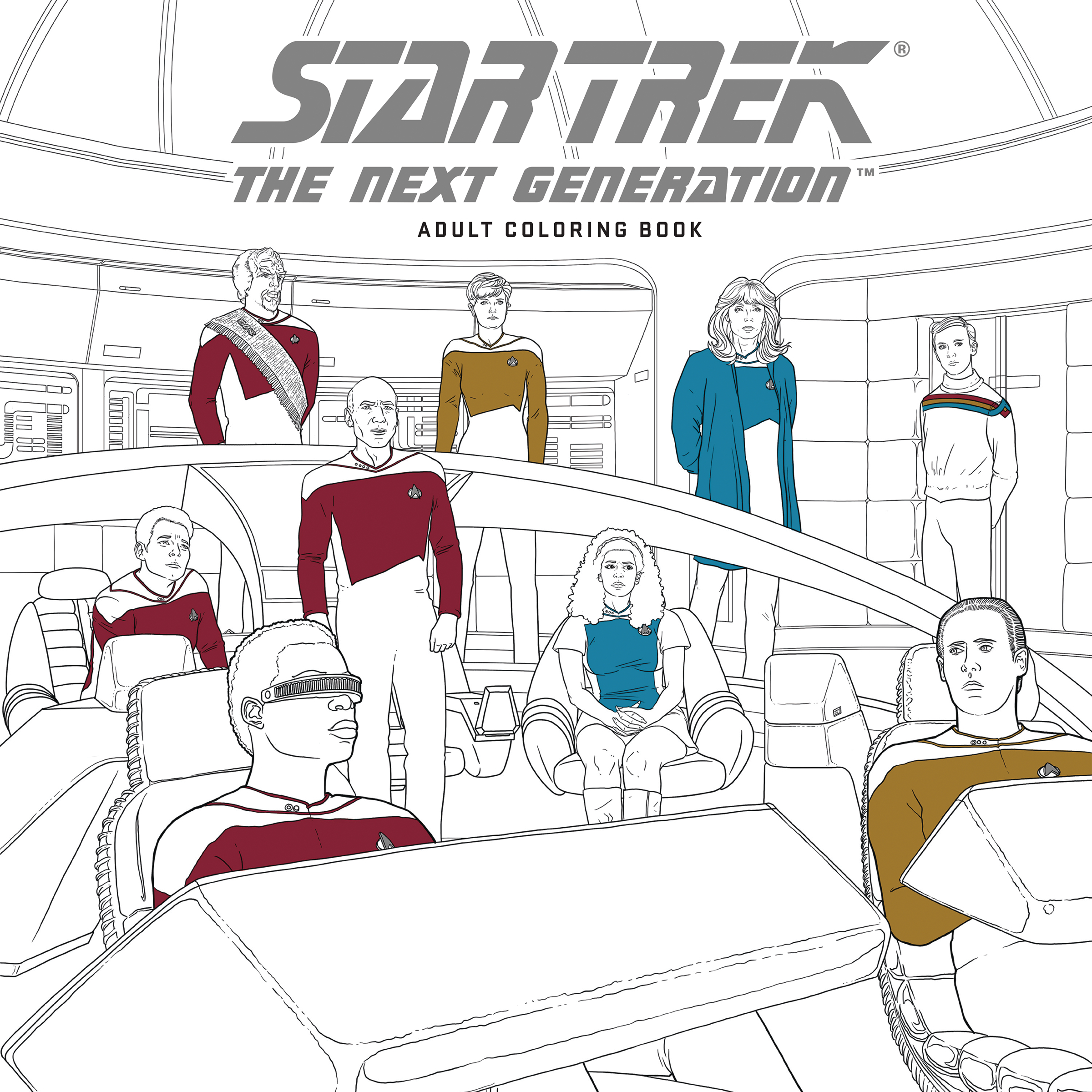 star trek next gen adult coloring bk tp - Star Trek Coloring Book