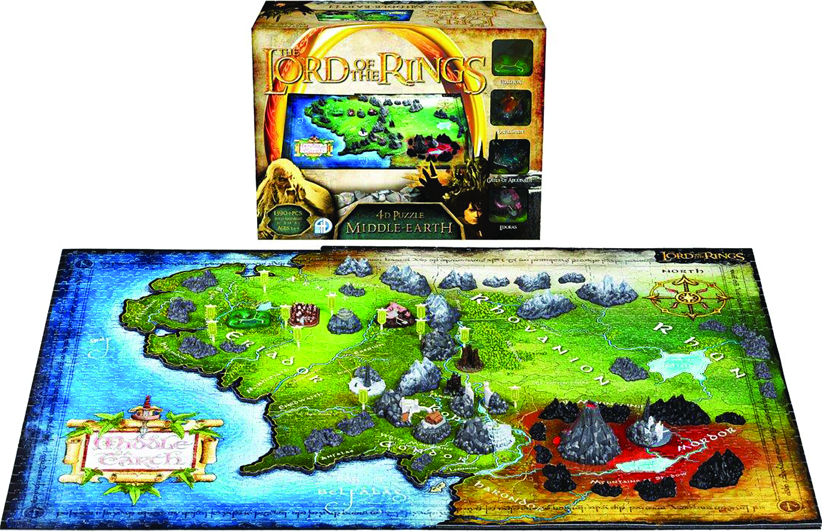 JUN168003  4D CITYSCAPE LORD OF THE RINGS MIDDLE EARTH PUZZLE