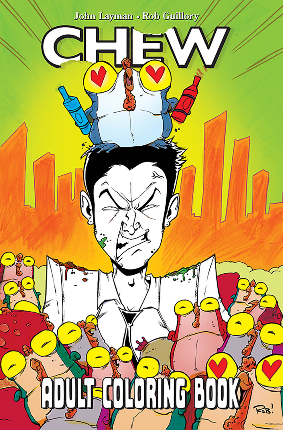 CHEW ADULT COLORING BOOK TP