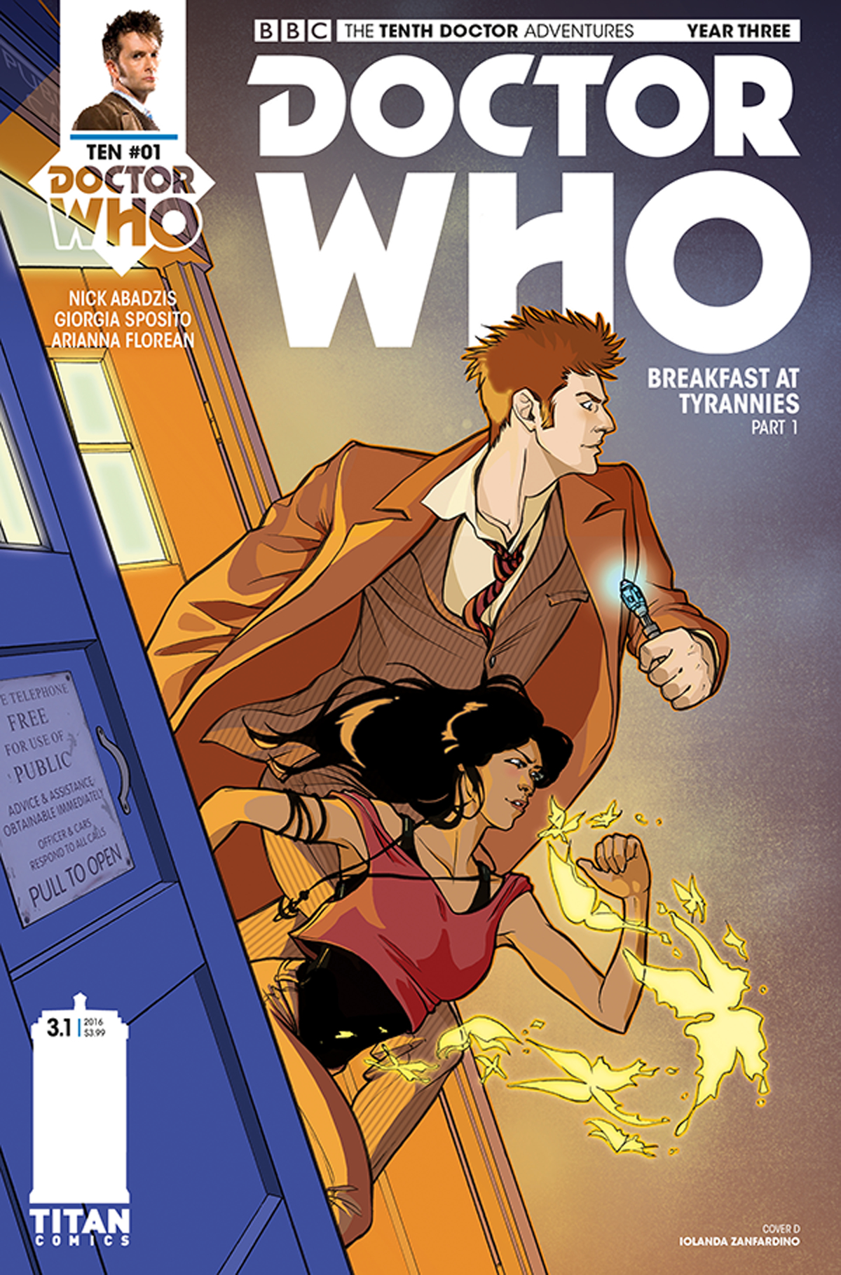 DOCTOR WHO 10TH YEAR THREE #1 CVR D ZANFARDINO