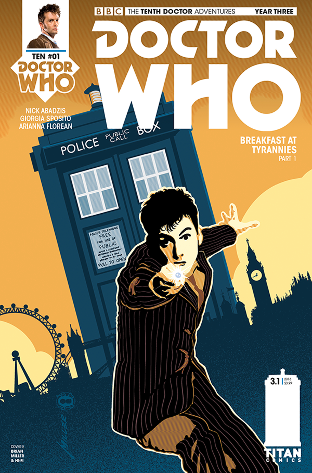 DOCTOR WHO 10TH YEAR THREE #1 CVR E MILLER