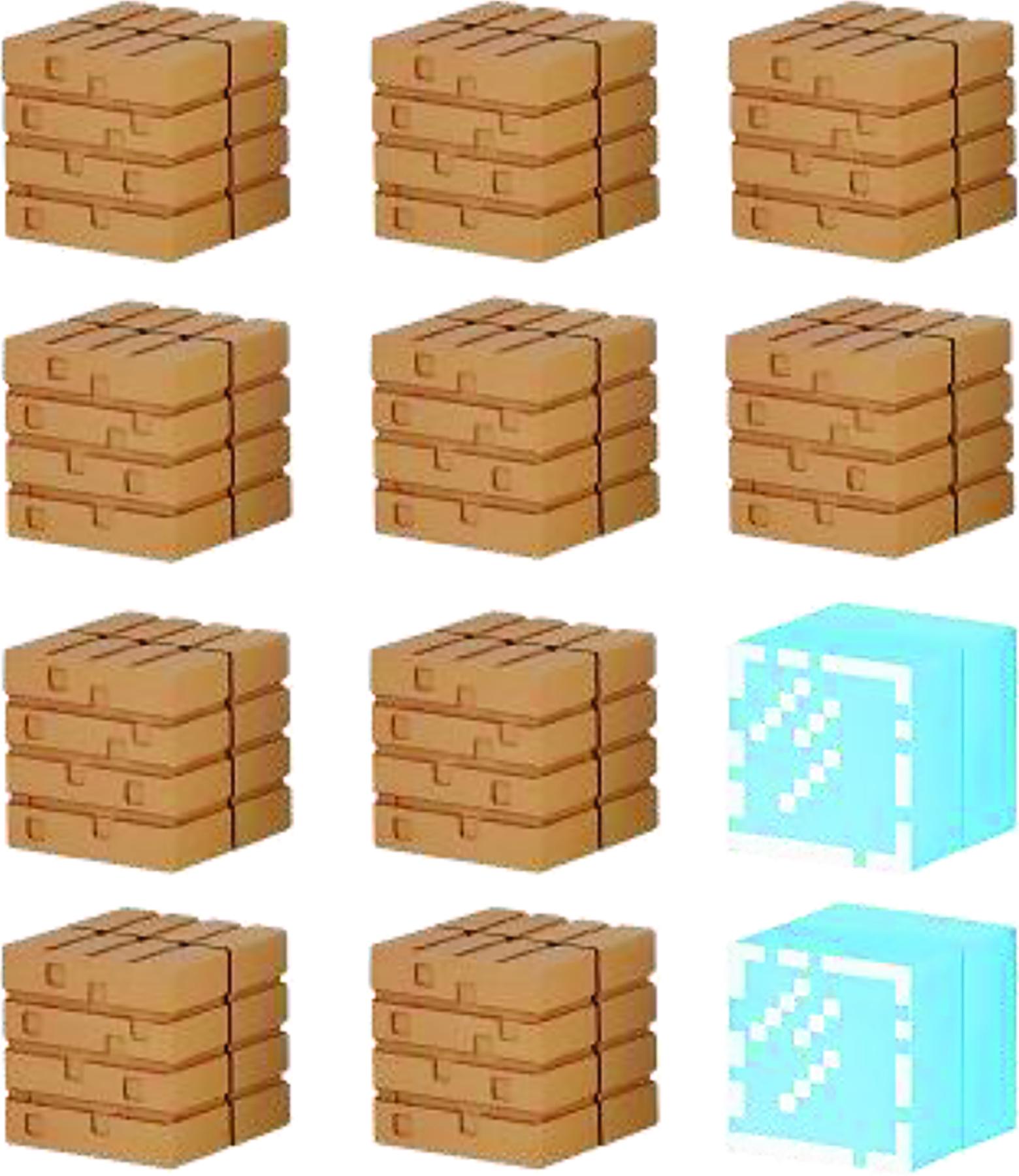 Jul minecraft mine keshi wood plank glass block