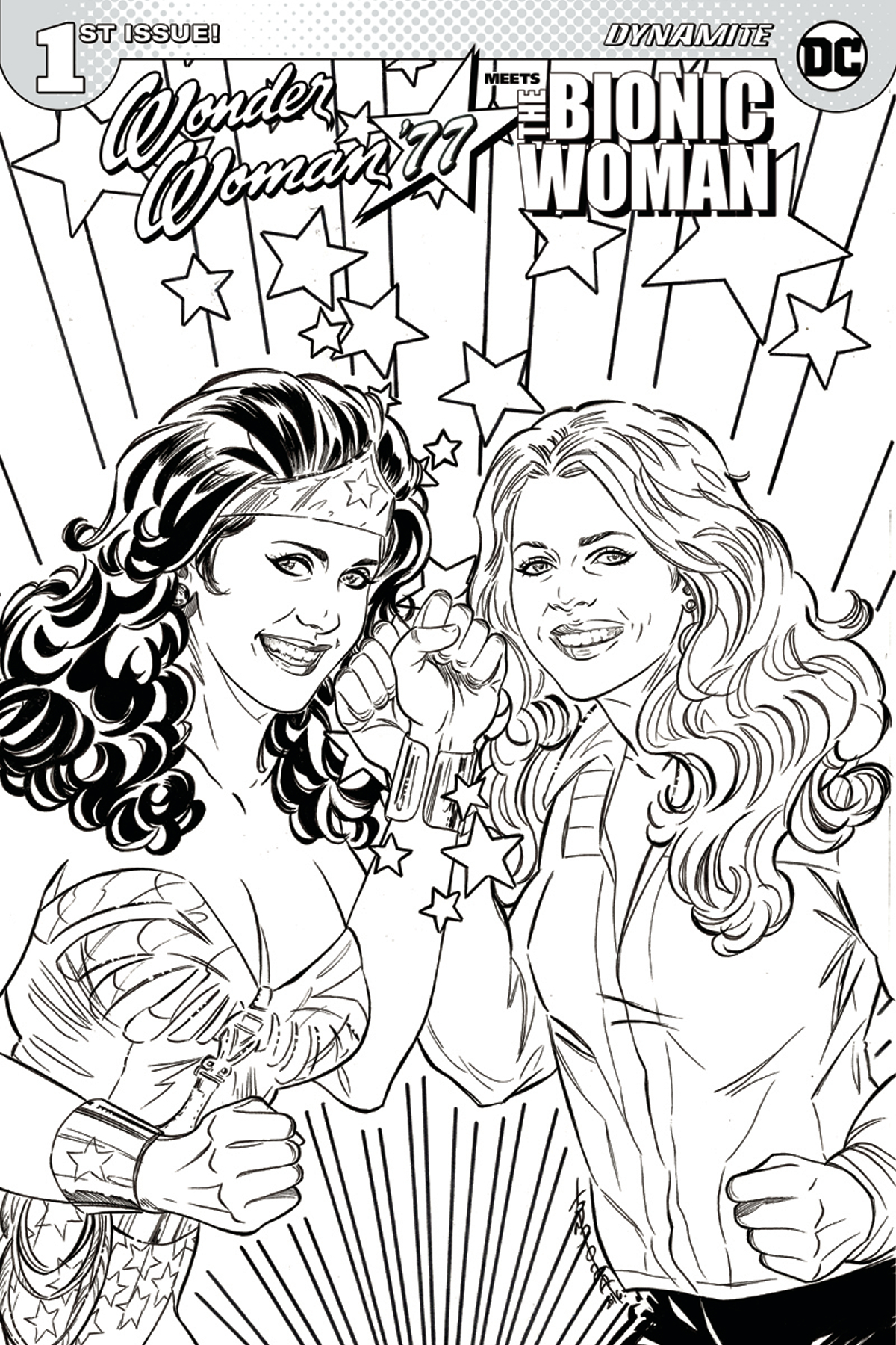 WONDER WOMAN 77 BIONIC WOMAN #1 (OF 6) CVR D COLORING BOOK