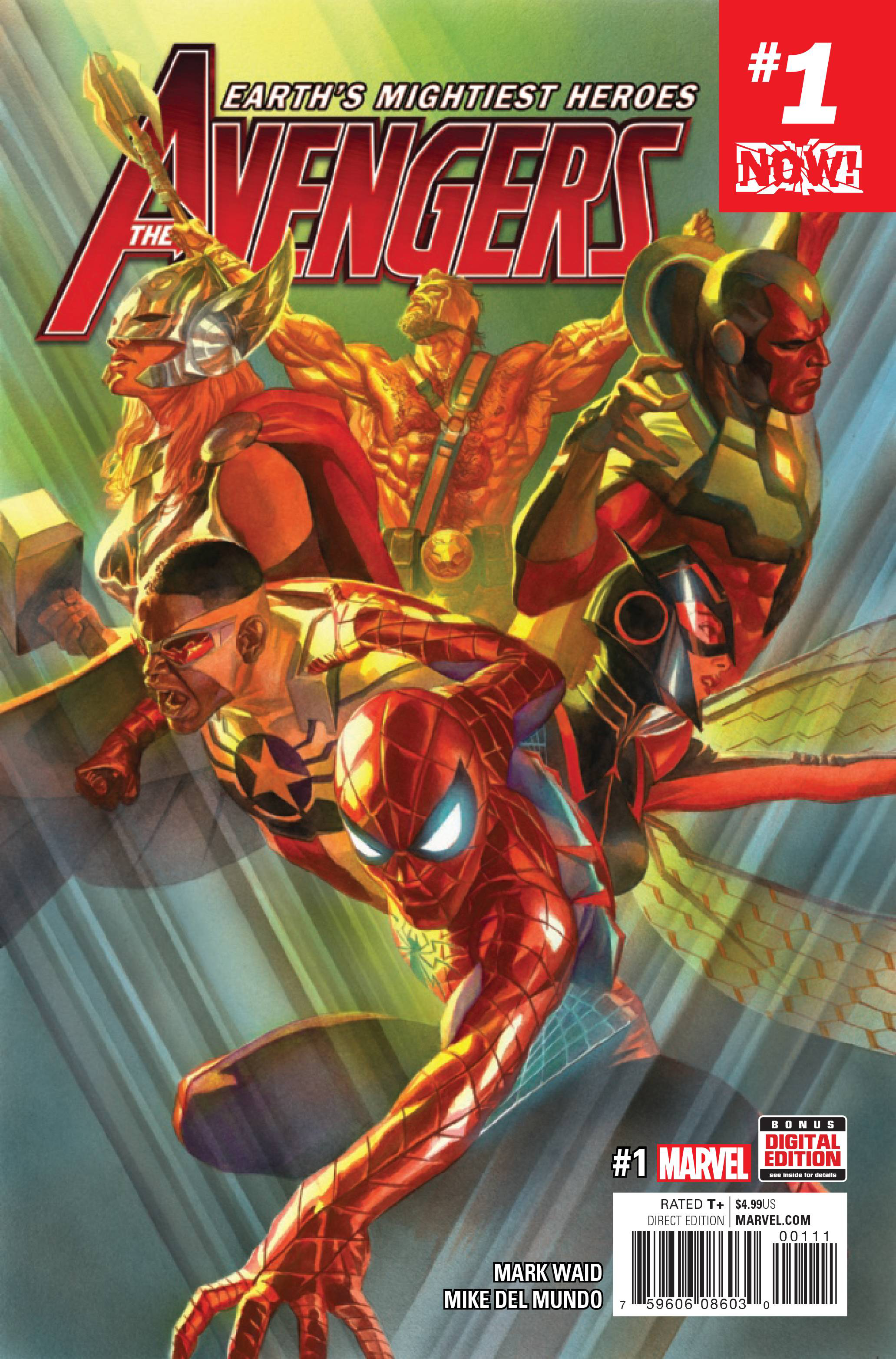 DF NOW AVENGERS #1 WAID SGN