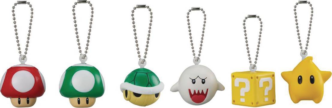 SUPER MARIO 3D WORLD SOFT SQUEEZE KEYCHAIN BMB DIS