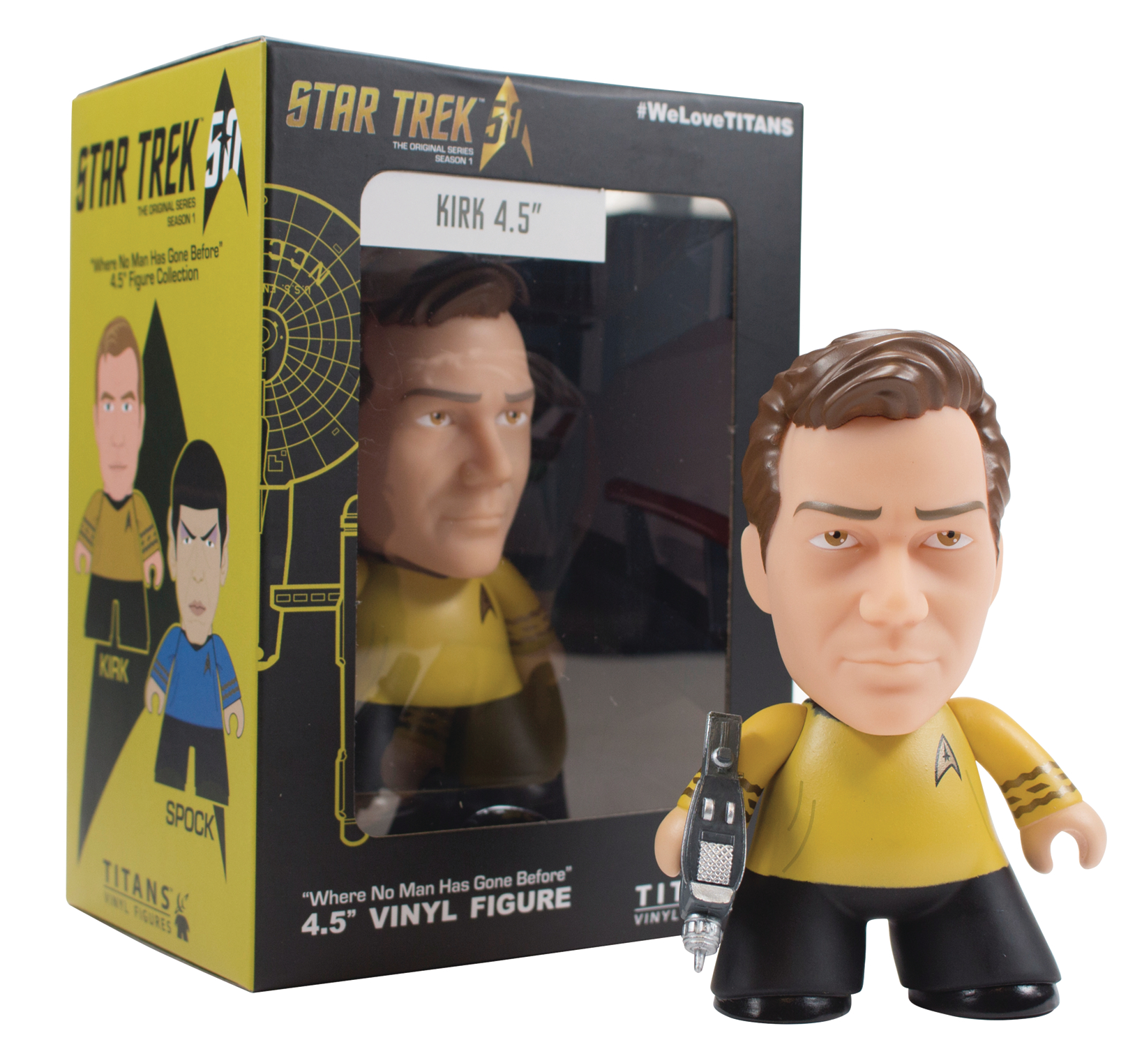 NYCC 2016 EXCL STAR TREK TOS TITANS KIRK 4.5IN VIN FIG