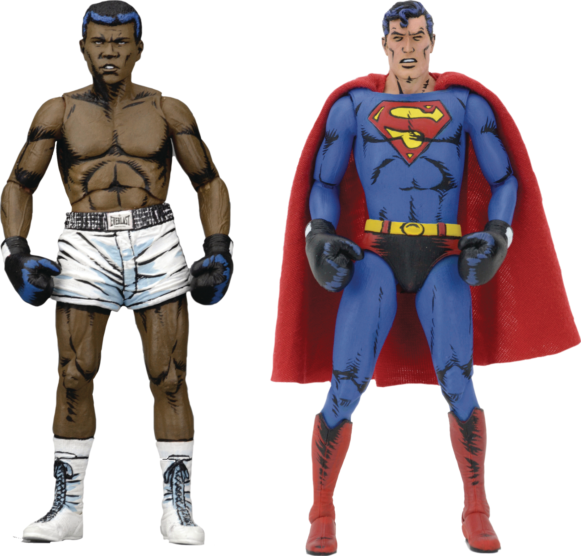 SUPERMAN VS MUHAMMAD ALI 7IN ACTION FIGURE 2PK