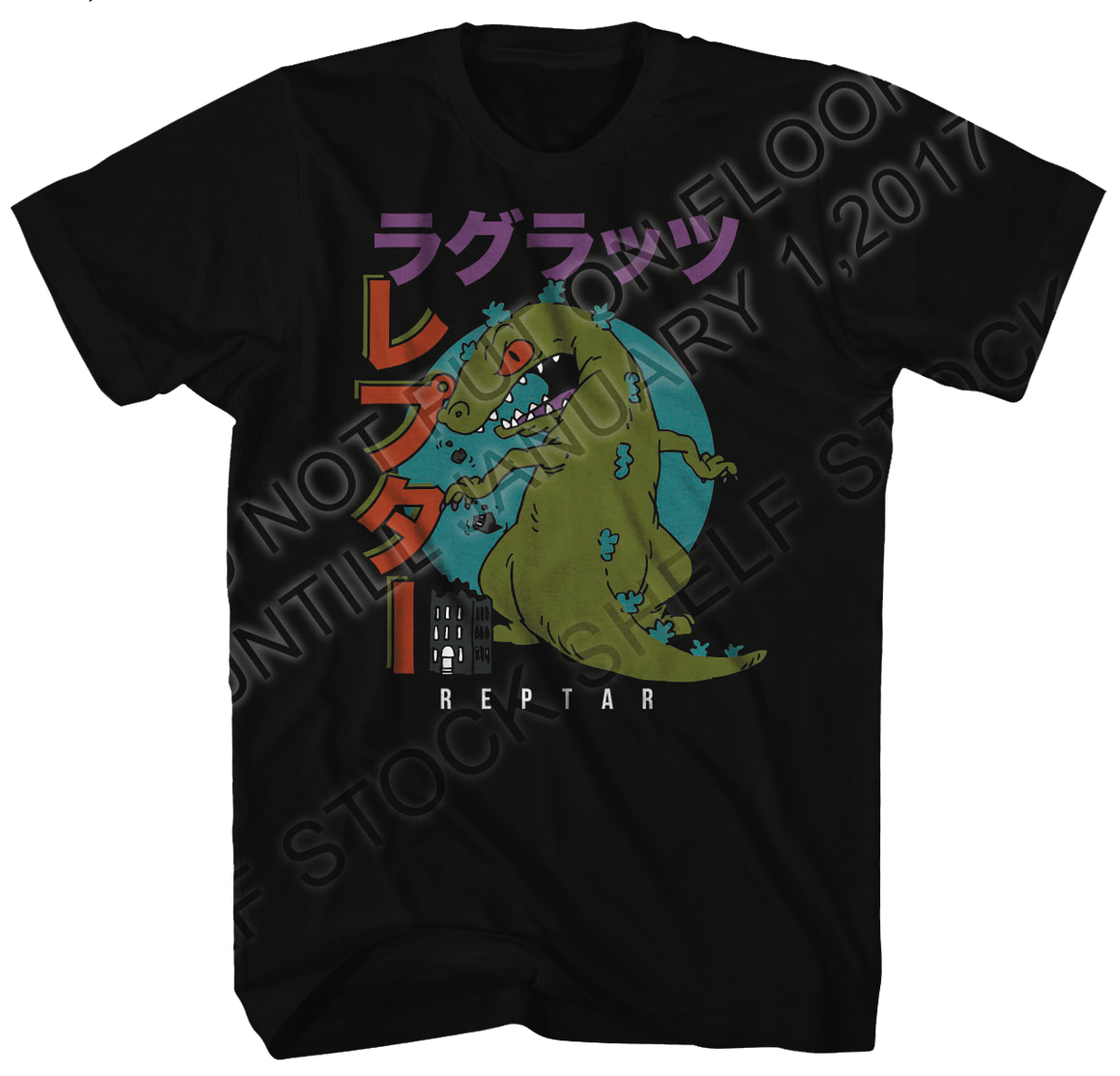NICKELODEON RUGRATS FAMOUS REPTAR BLACK T/S LG