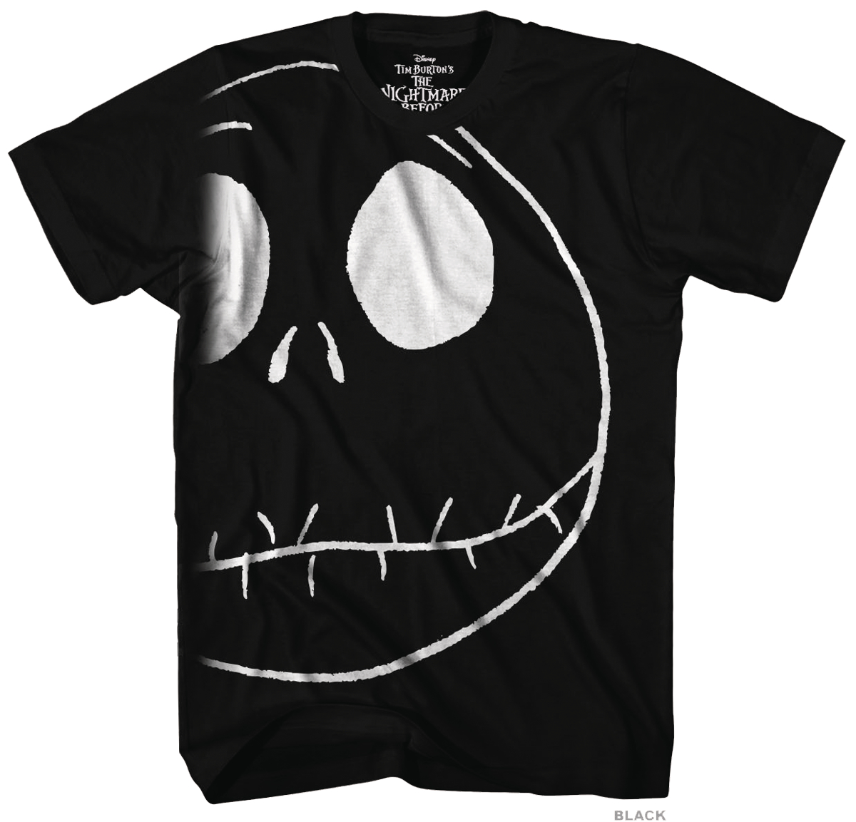 NIGHTMARE BEFORE CHRISTMAS OVERSIZED JACK GID T/S BLACK XXL