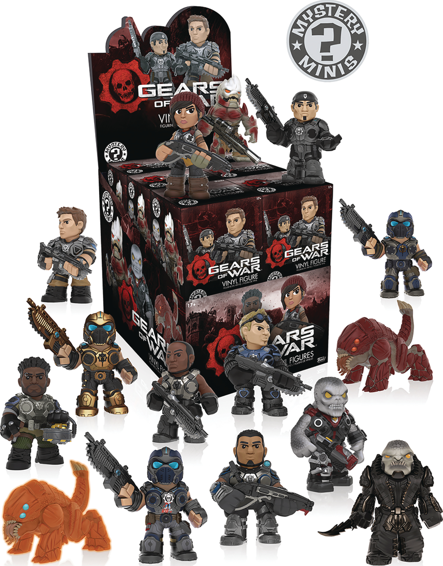 MYSTERY MINIS GEARS OF WAR SER 1 12PC BMB DISP