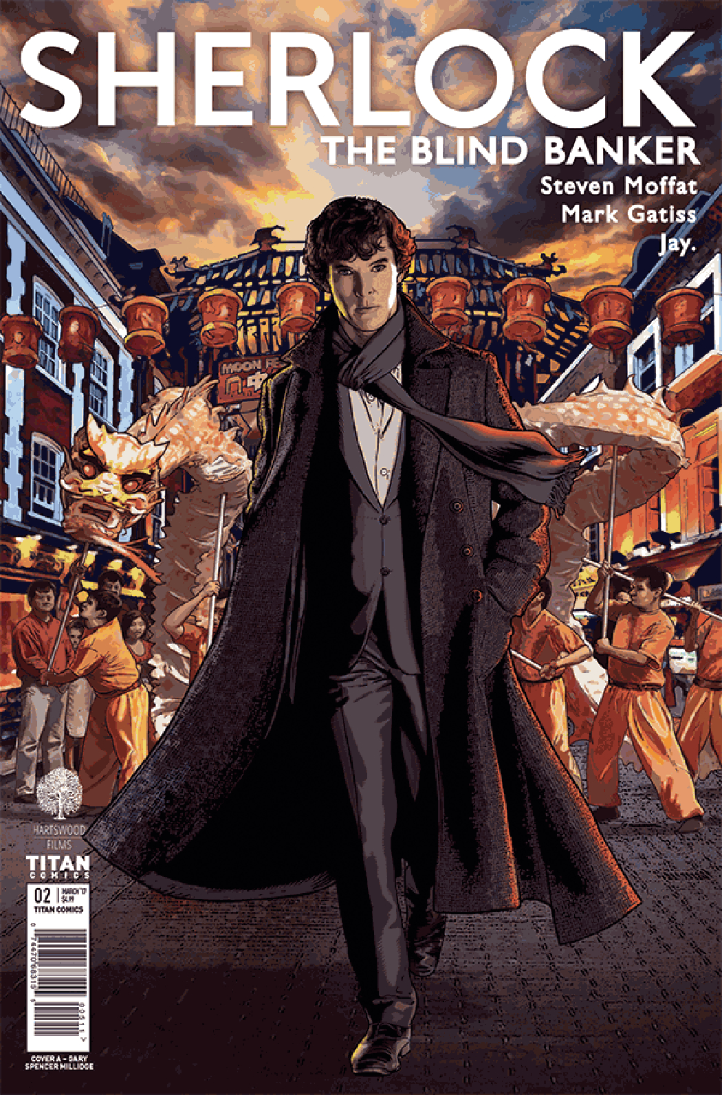 SHERLOCK BLIND BANKER #2 (OF 6) CVR A MILLIDGE