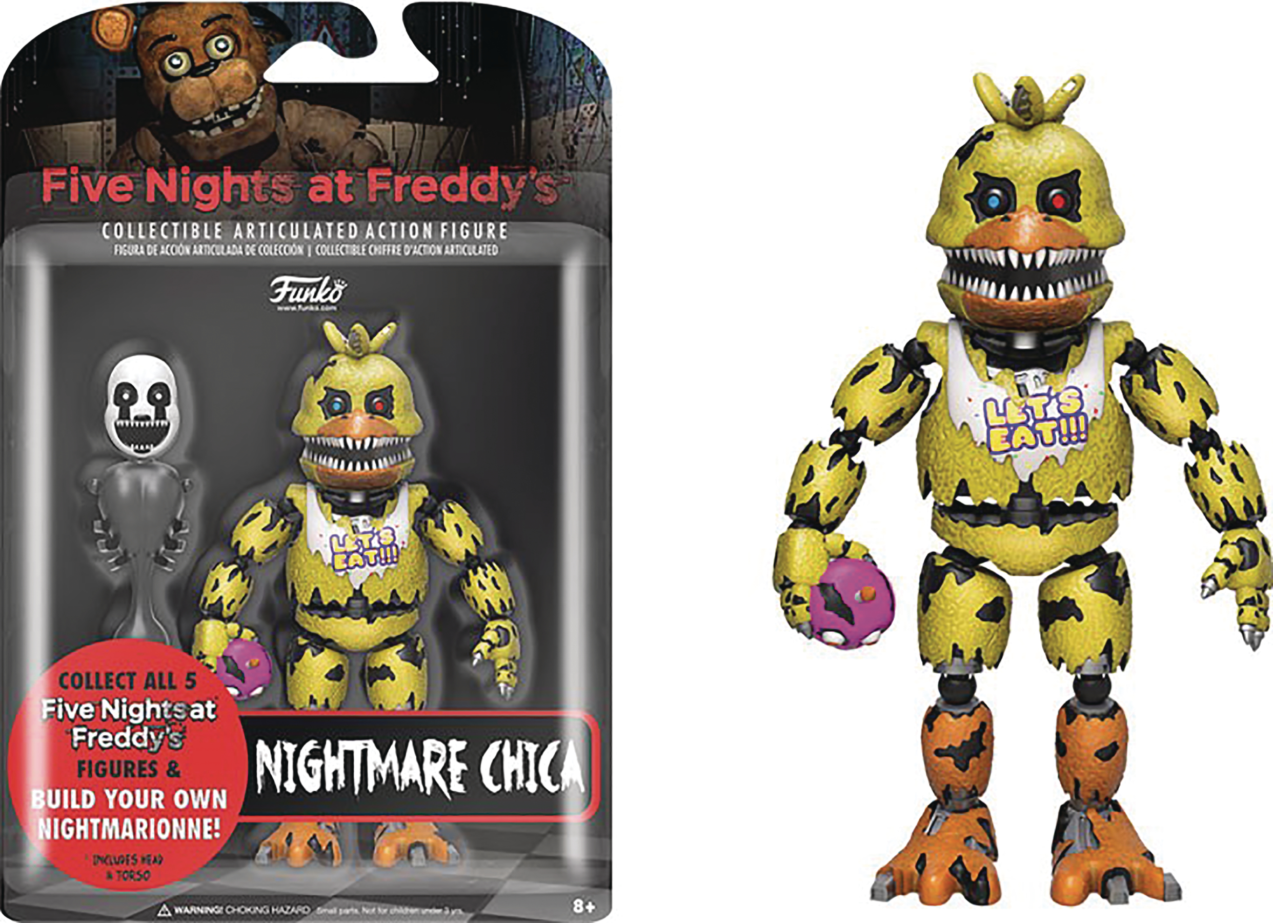 FIVE NIGHTS AT FREDDYS NIGHTMARE CHICA 5IN ACTION FIGURE