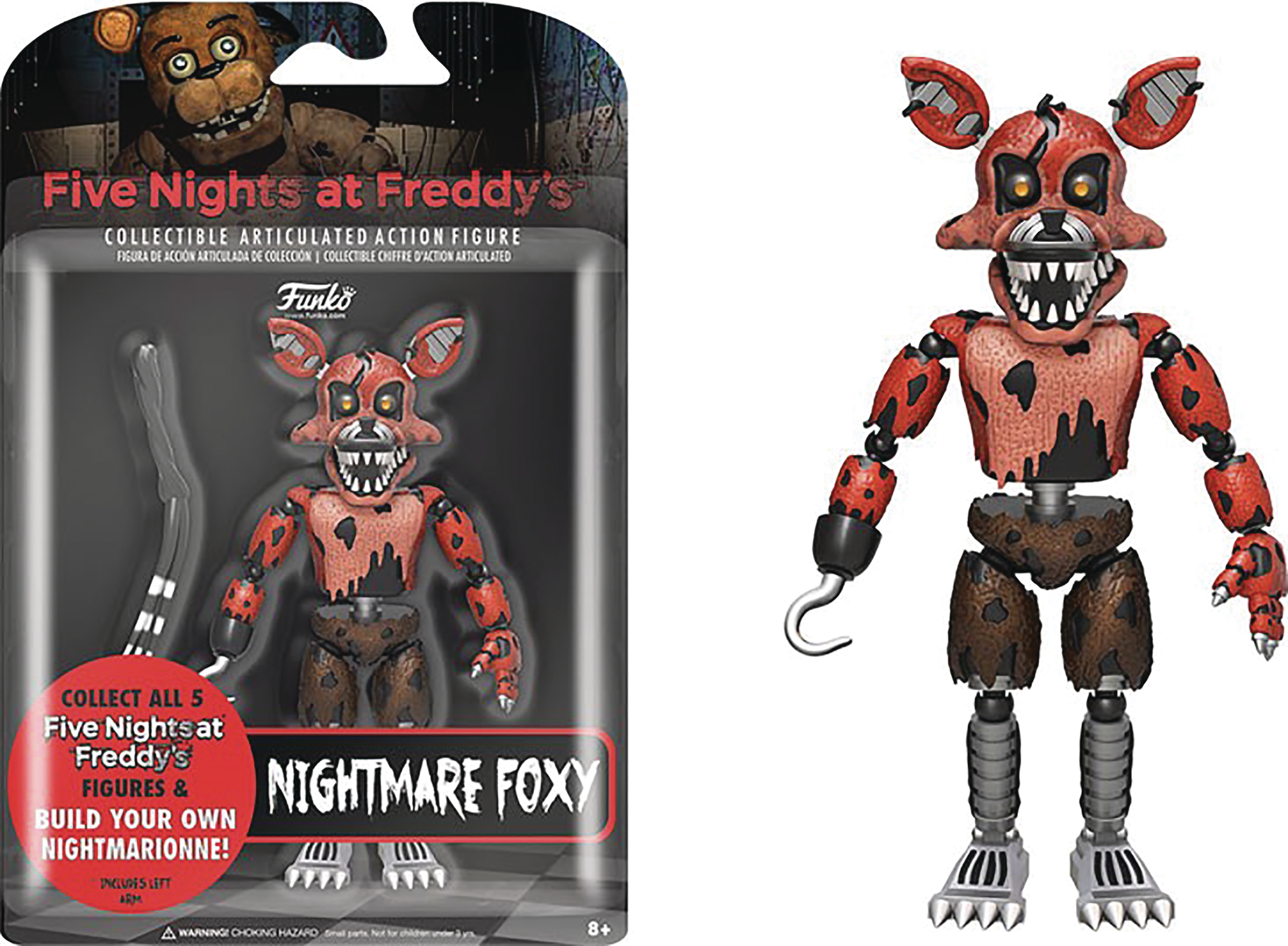 Sep168626 Five Nights At Freddys Nightmare Foxy 5in