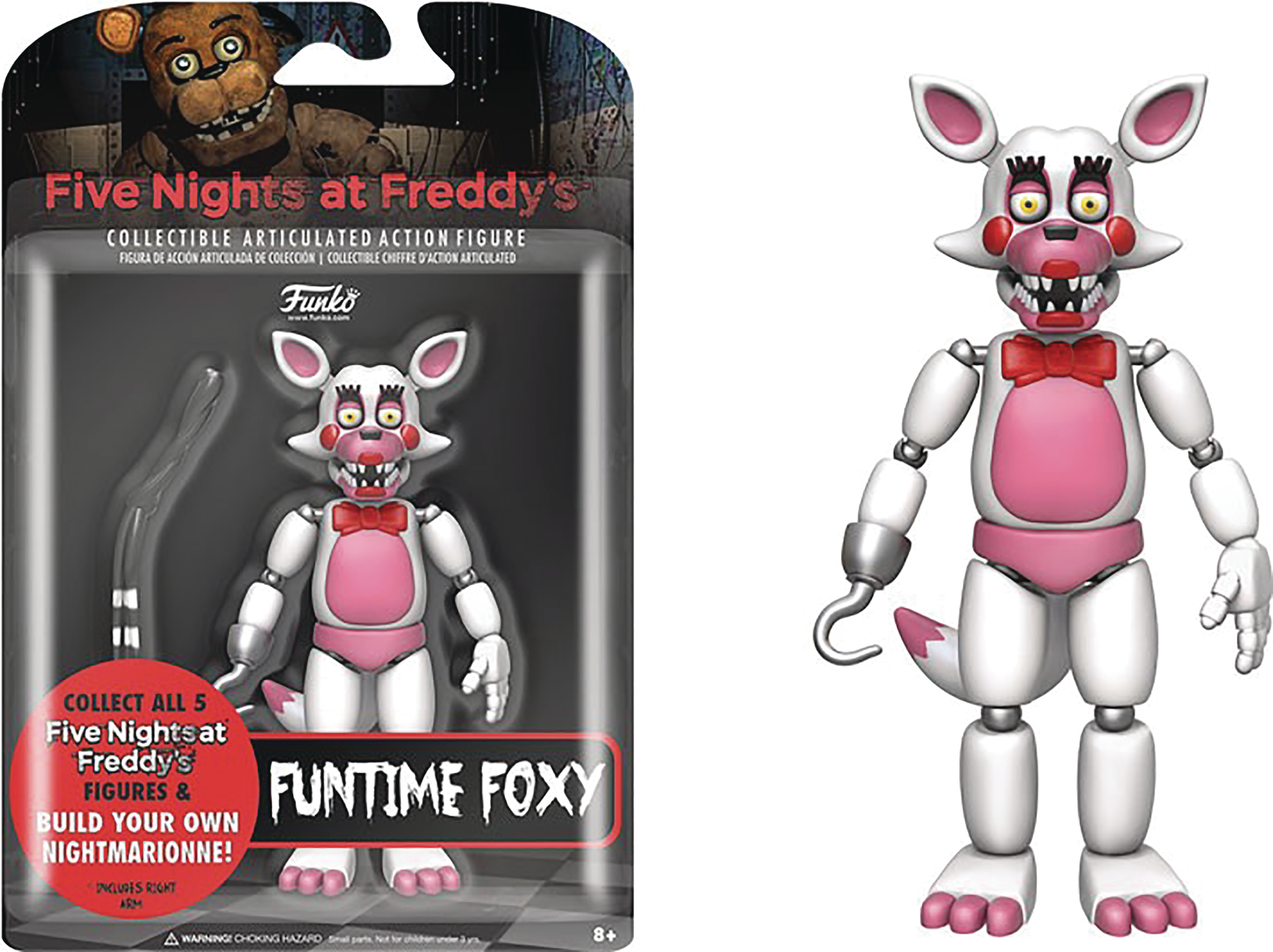FIVE NIGHTS AT FREDDYS FUN TIME FOXY 5IN ACTION FIGURE