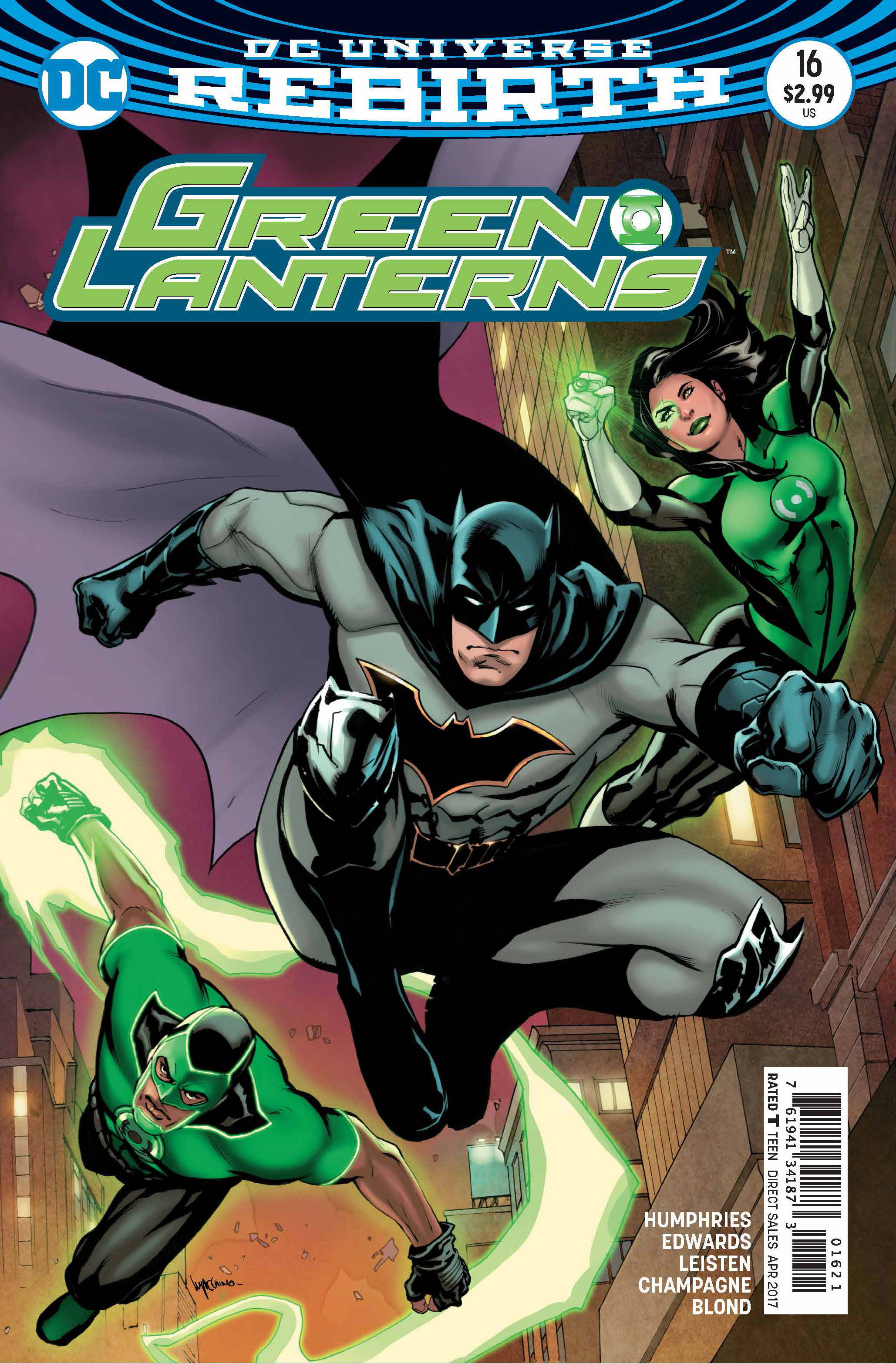GREEN LANTERNS #16 VAR ED