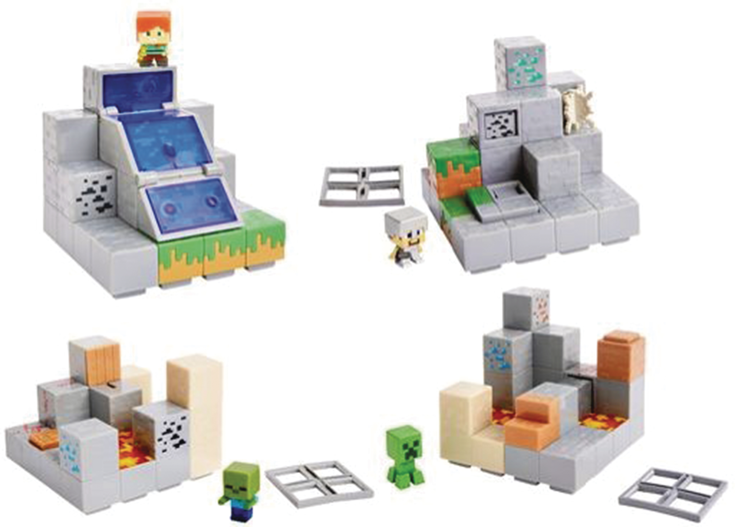 Minecraft Toys And Mini Figures For Kids : Sep minecraft mini fig environment set asst