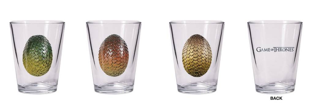 GAME OF THRONES SHOT GLASS SET DRAGON EGG