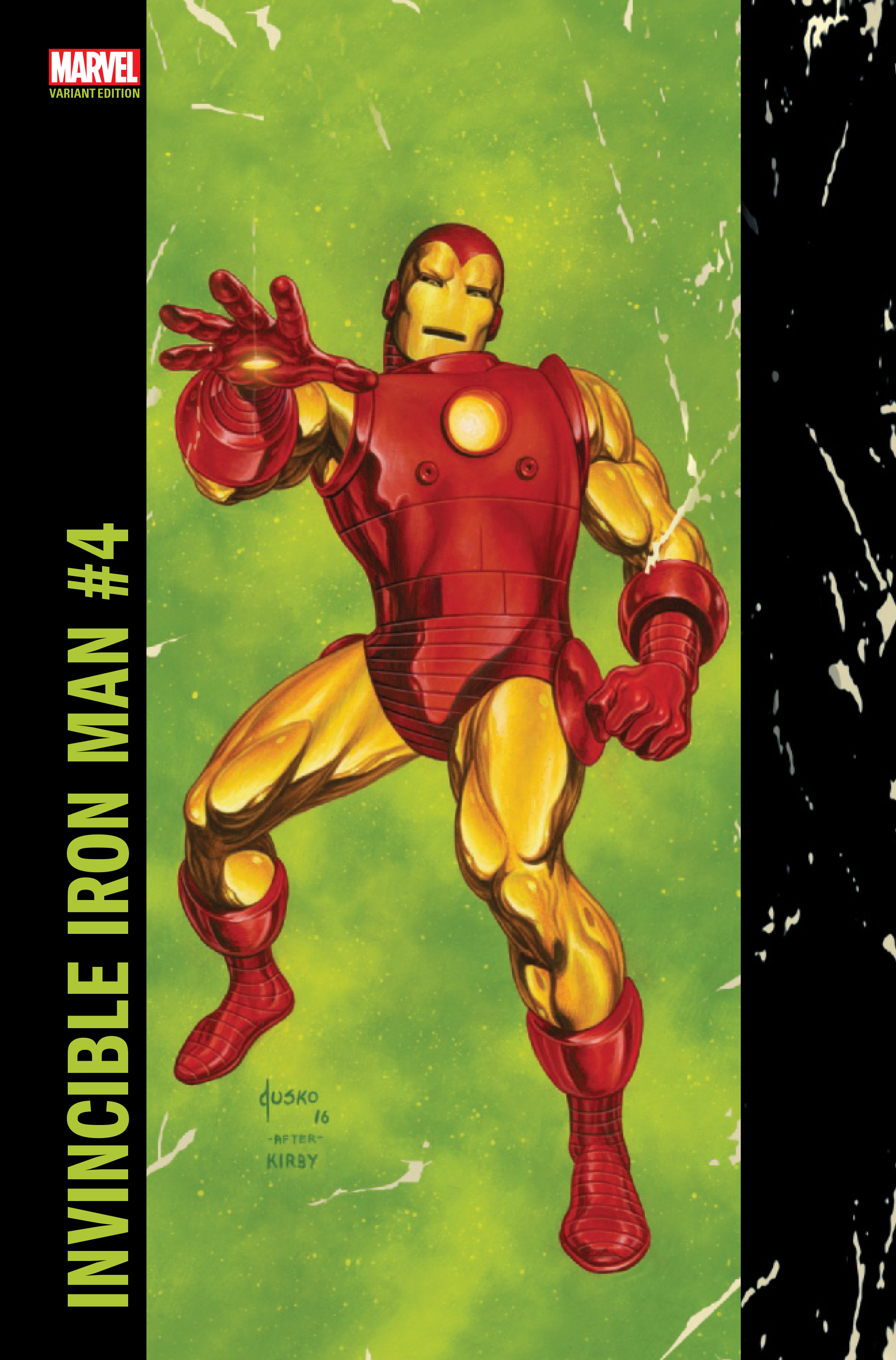 INVINCIBLE IRON MAN #4 JUSKO CORNER BOX VAR