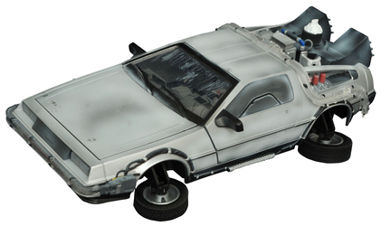BTTF 2 FROZEN HOVER TIME MACHINE ELECTRONIC VEHICLE