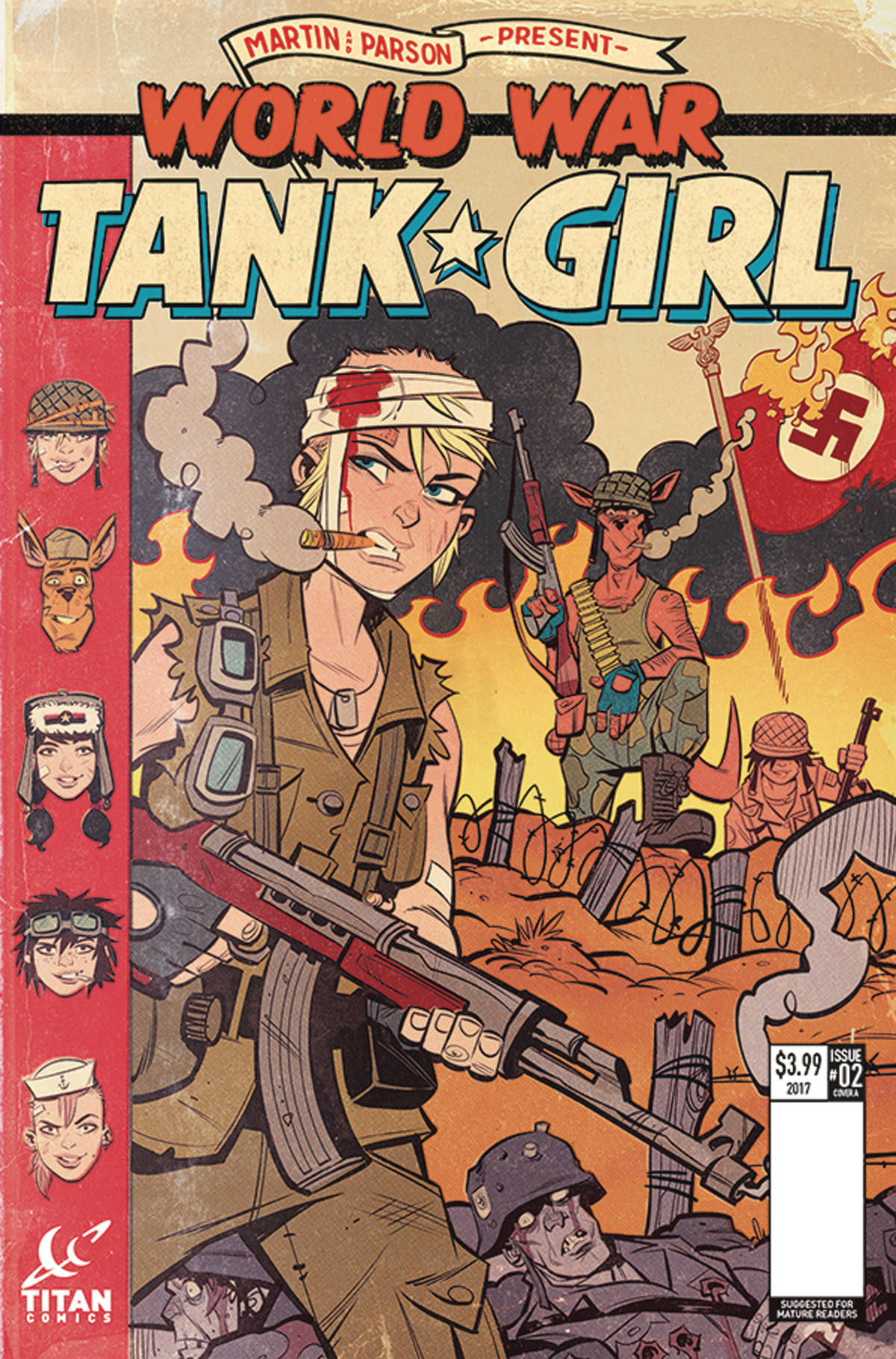TANK GIRL WORLD WAR TANK GIRL #2 (OF 4) CVR A PARSON