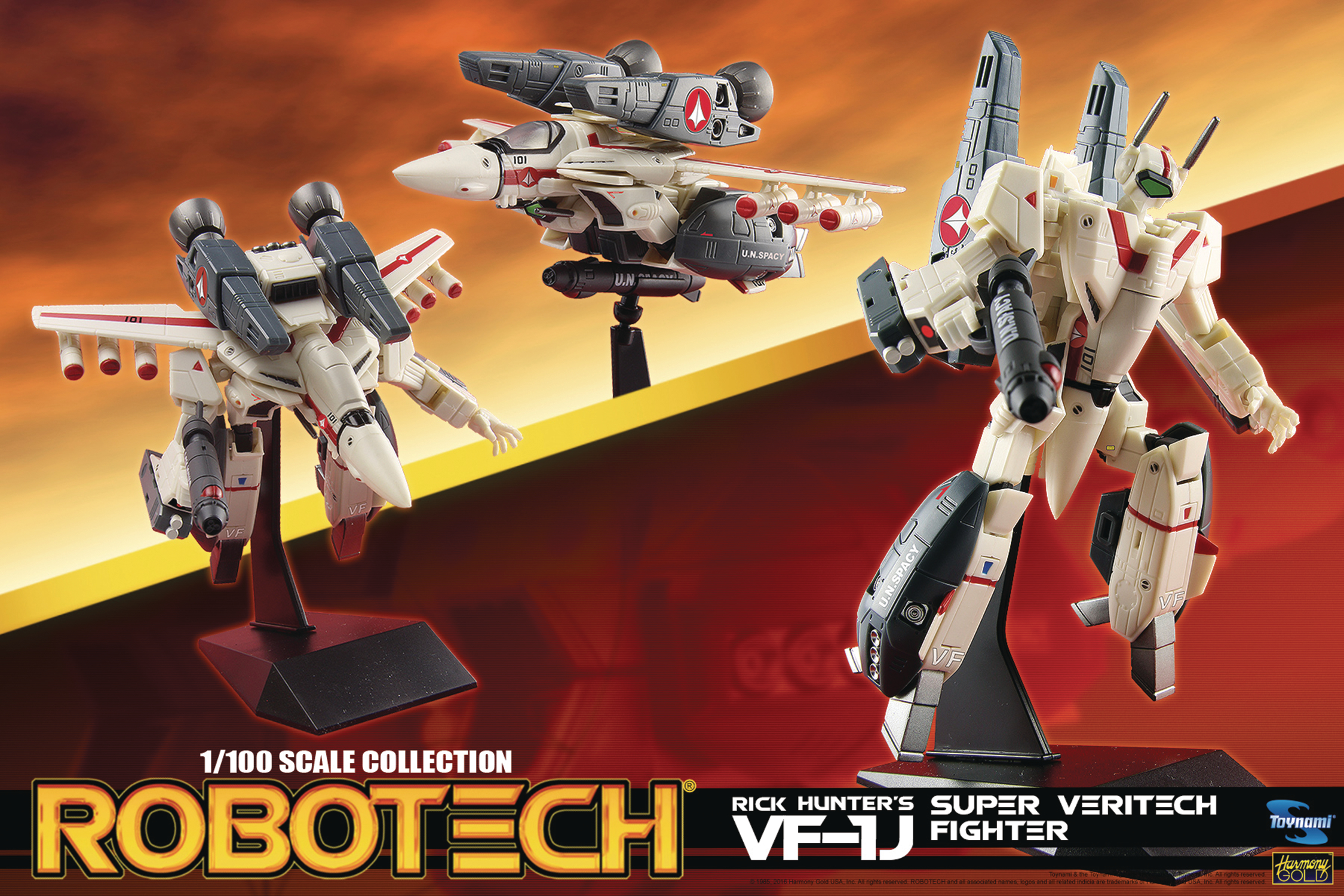 ROBOTECH 1/100 SCALE RICK HUNTER SUPER VERITECH AF