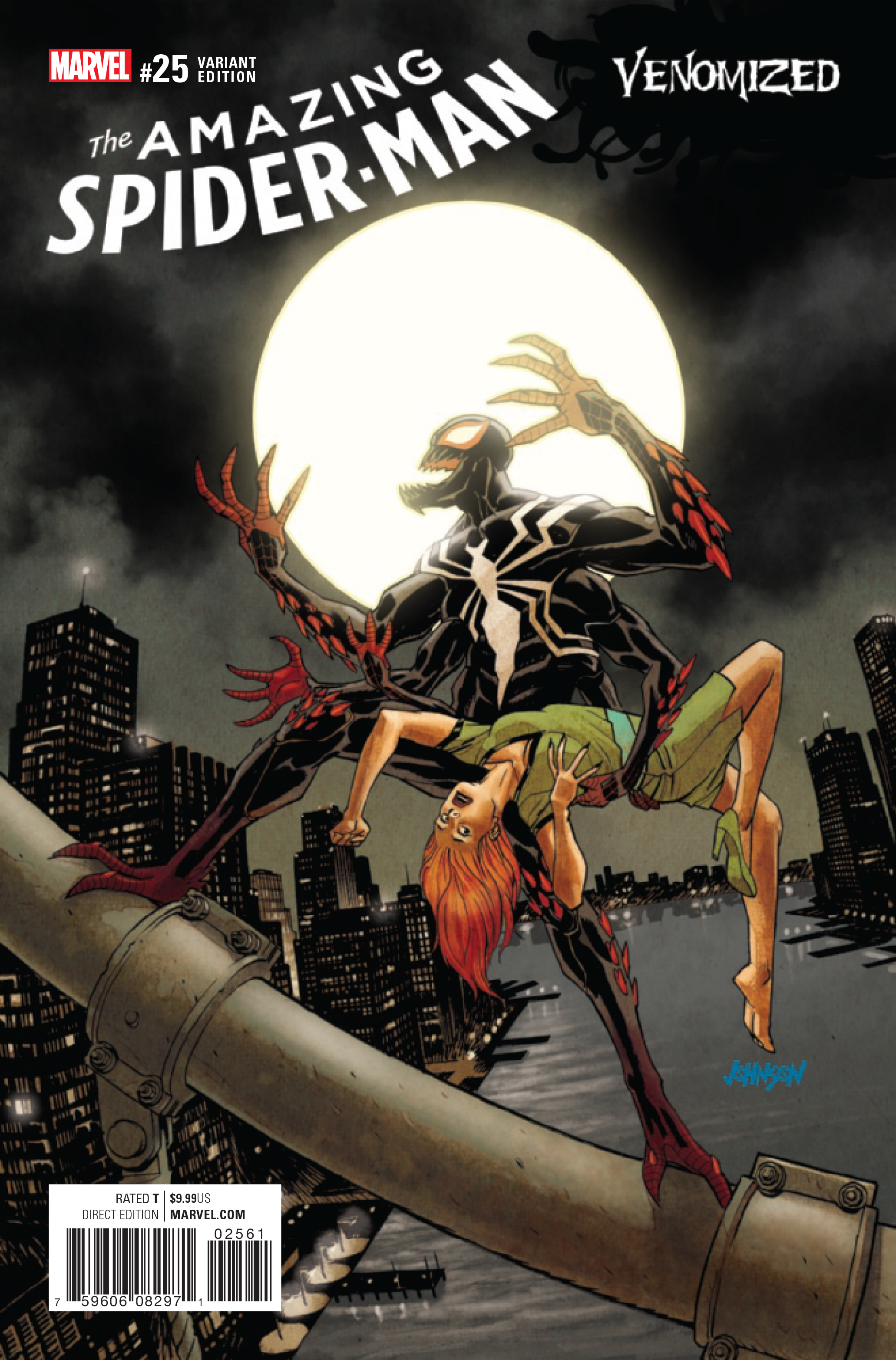 Jan170990 Amazing Spider Man 25 Johnson Venomized Var
