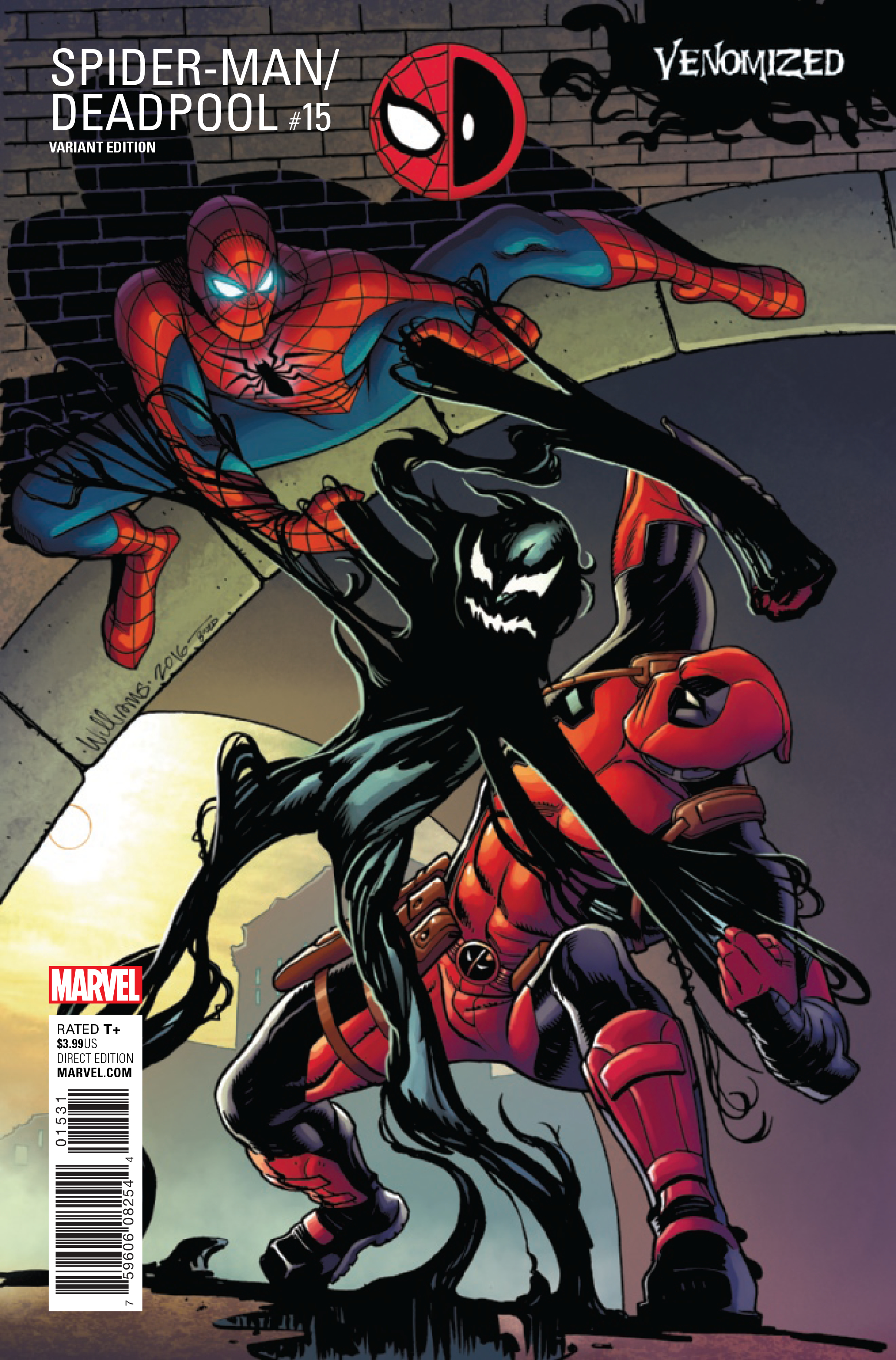 SPIDER MAN DEADPOOL #15 WILLIAMS VENOMIZED VAR