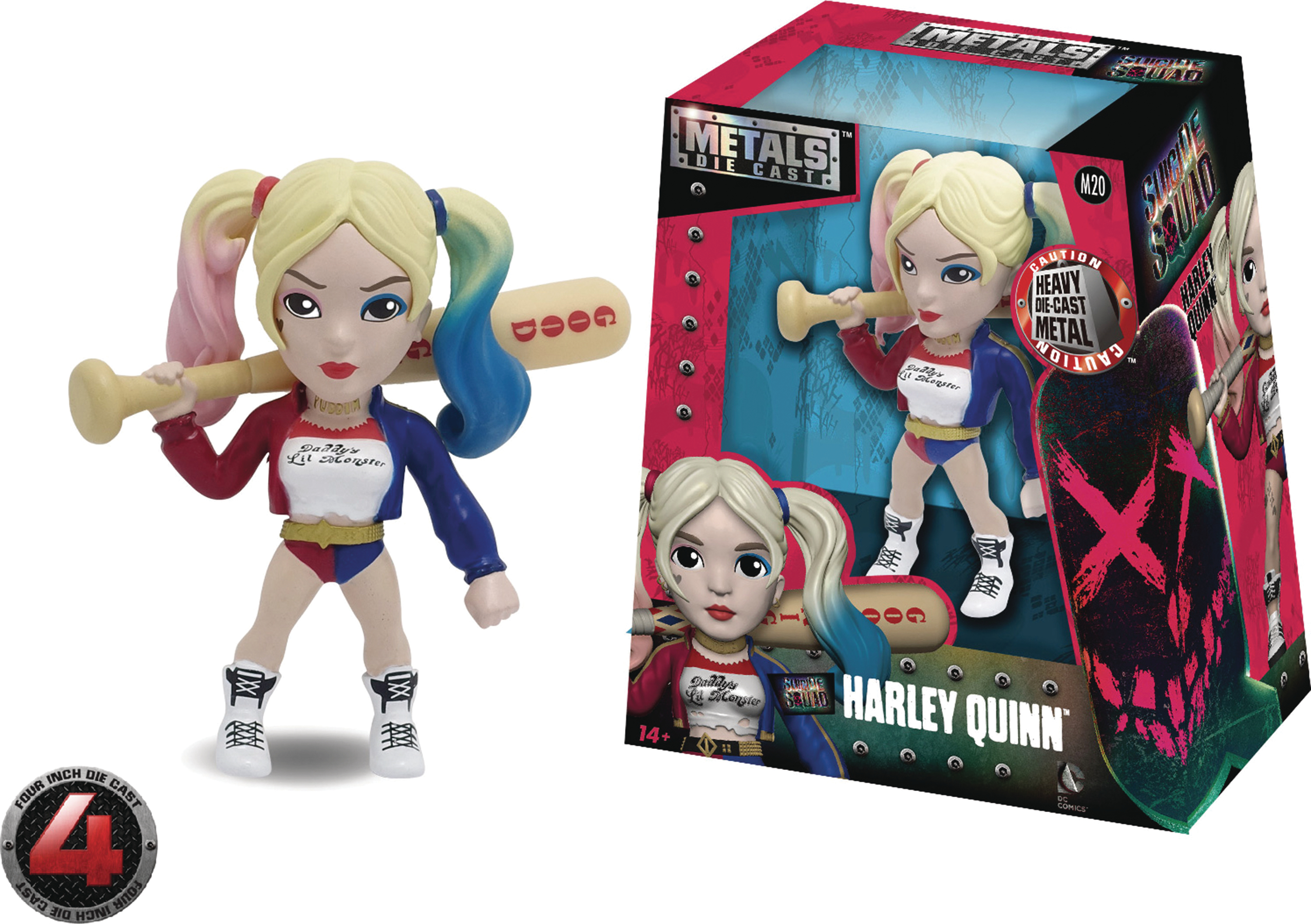 METALS SUICIDE SQUAD HARLEY QUINN 4IN DIE-CAST FIG