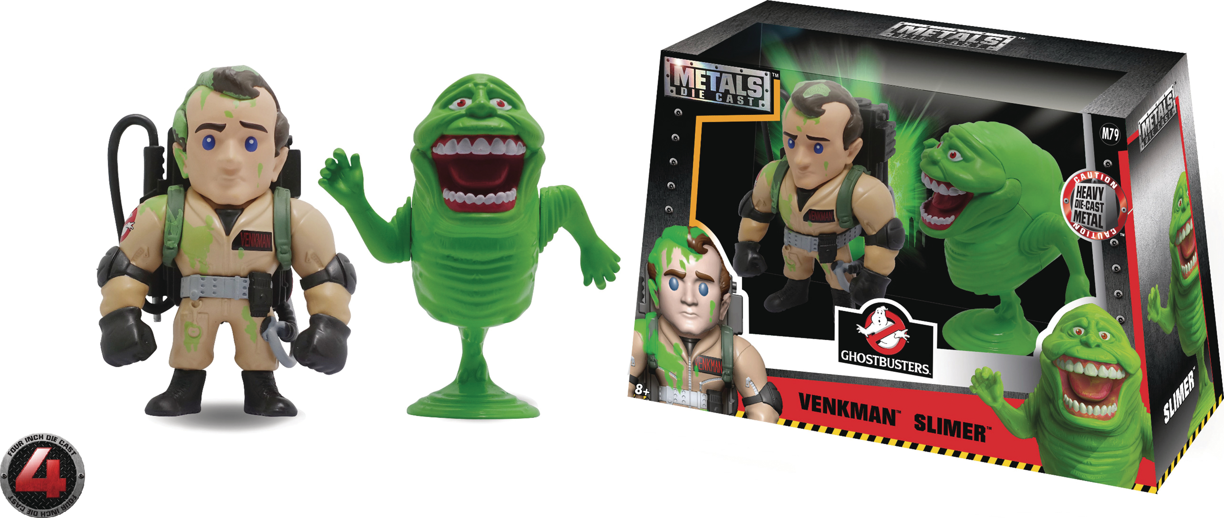 METALS GHOSTBUSTERS PETER/SLIMER 4IN DIE-CAST FIG 2PK