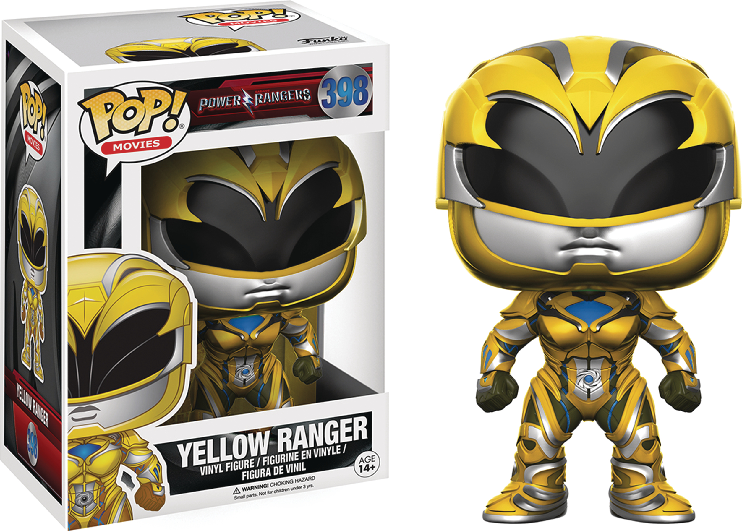POP POWER RANGERS MOVIE YELLOW RANGER VINYL FIG
