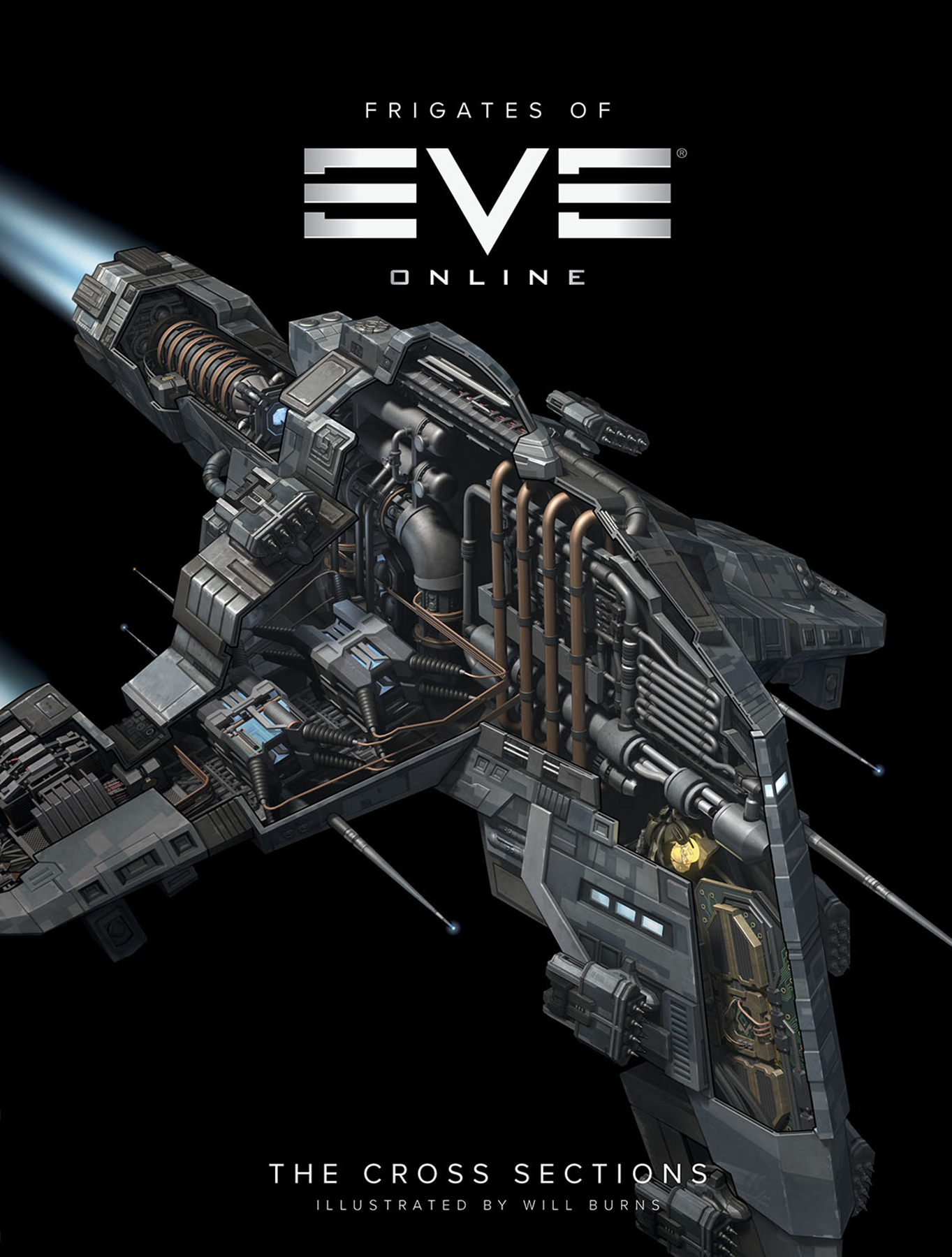 FRIGATES OF EVE ONLINE CROSS SECTIONS HC
