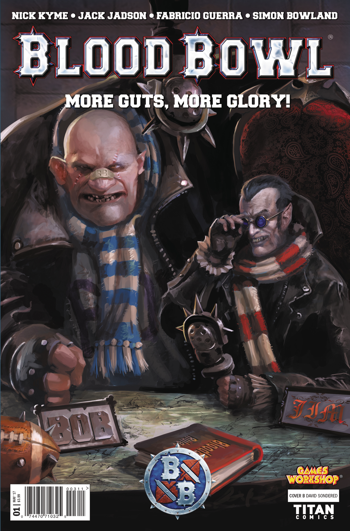 BLOOD BOWL MORE GUTS MORE GLORY #1 (OF 4) CVR B SONDRED