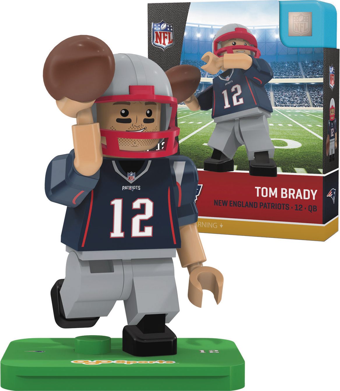 OYO NFL NEW ENGLAND PATRIOTS SB51 GOAT TOM BRADY MINI FIG