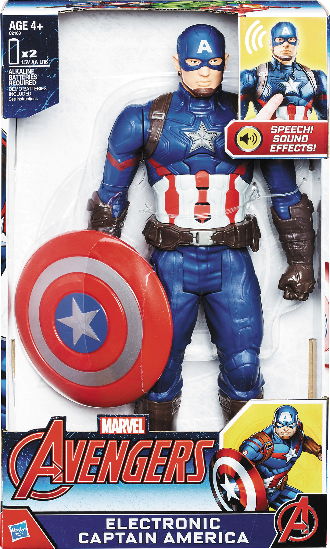 DEC168646 - AVENGERS CAPTAIN AMERICA 12IN ELECTRONIC AF CS