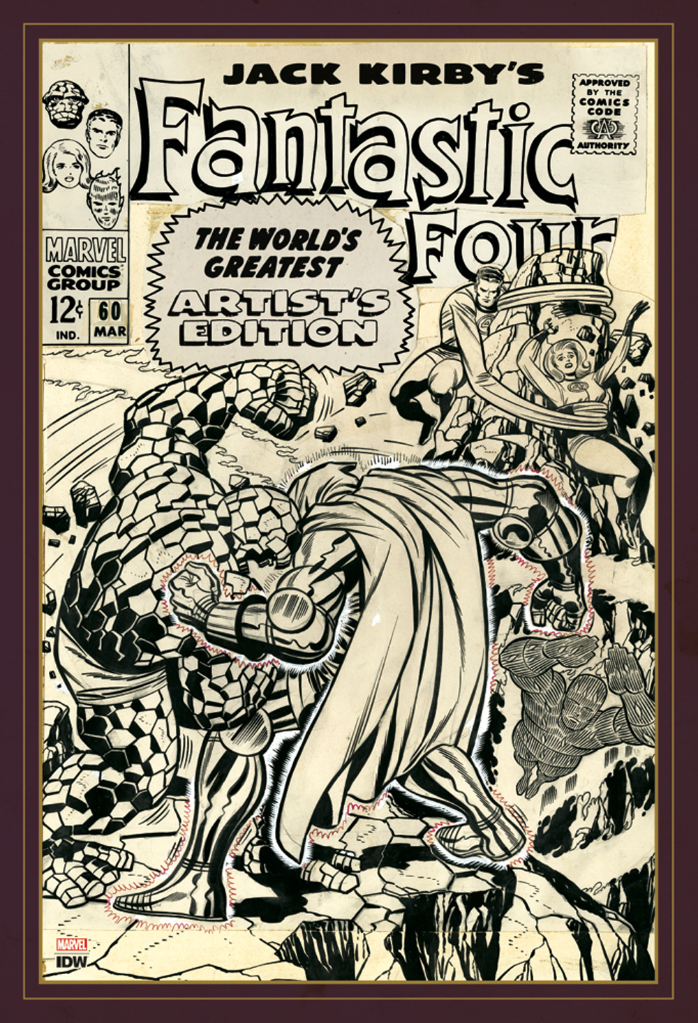 JACK KIRBY FANTASTIC FOUR WORLDS GREATEST ARTIST ED HC