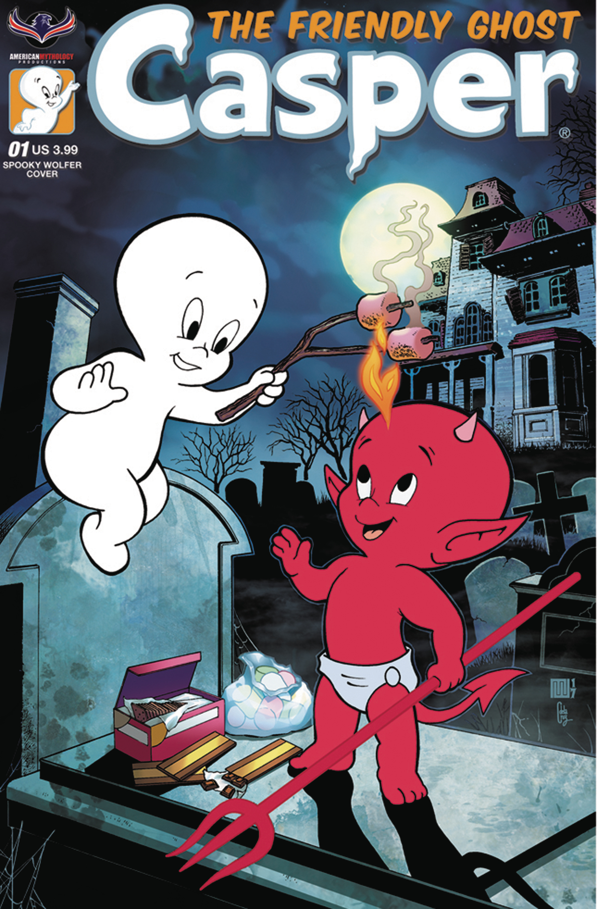 CASPER THE FRIENDLY GHOST #1 SPOOKY WOLFER CVR