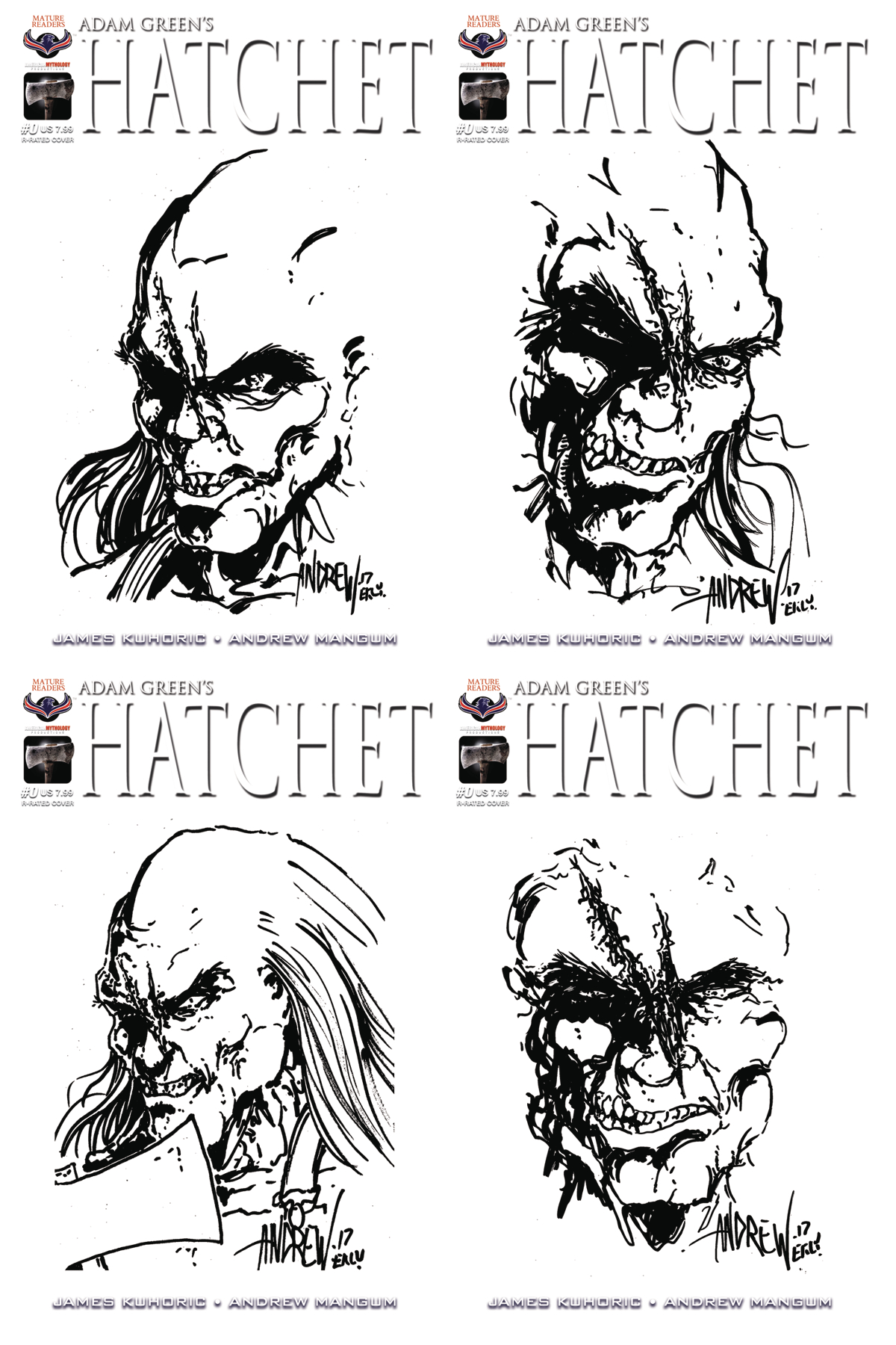 HATCHET #0 HAND DRAWN SKETCH CVR