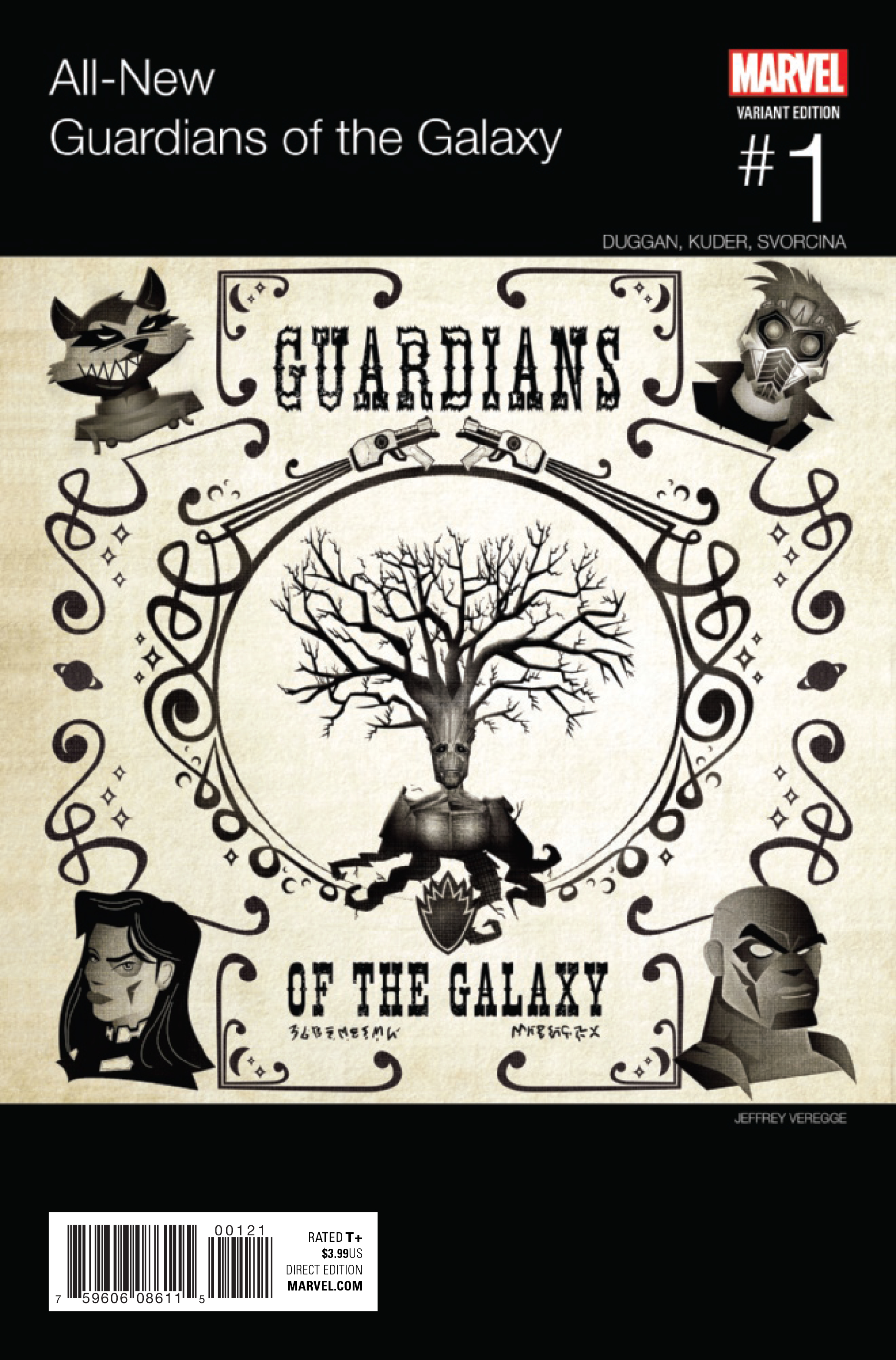 ALL NEW GUARDIANS OF GALAXY #1 VEREGGE HIP HOP VAR